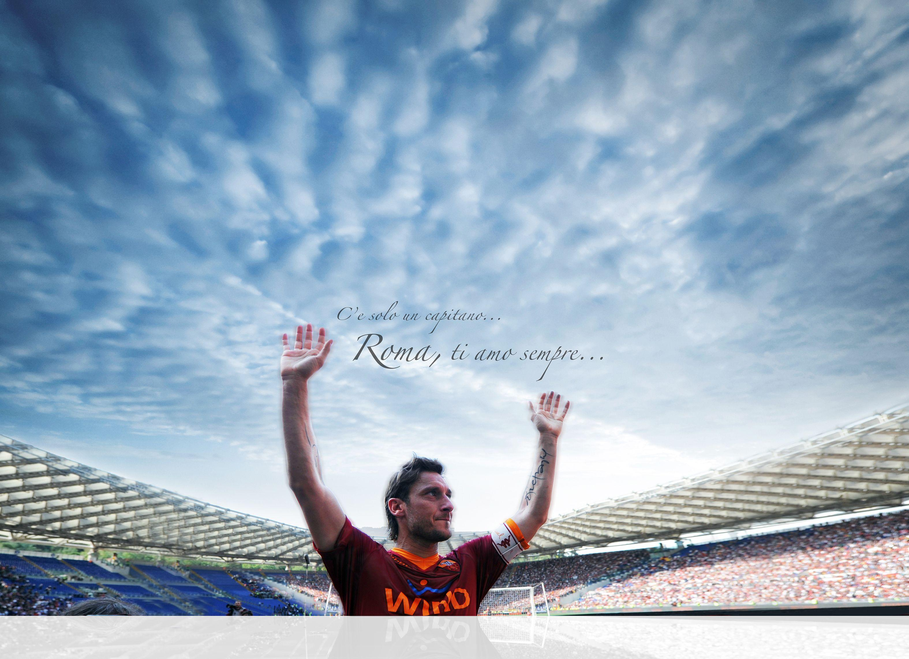 Two AS Roma Wallpapers – in high