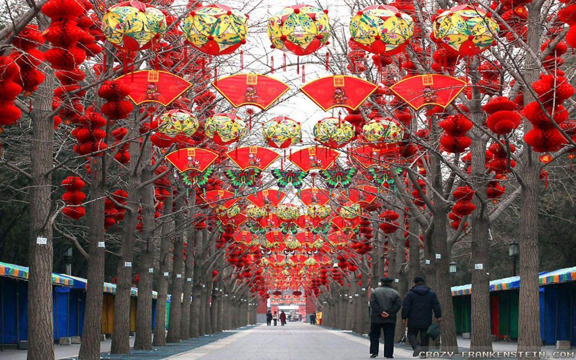Chinese new year wallpapers wallpaper cave for Decoration new year