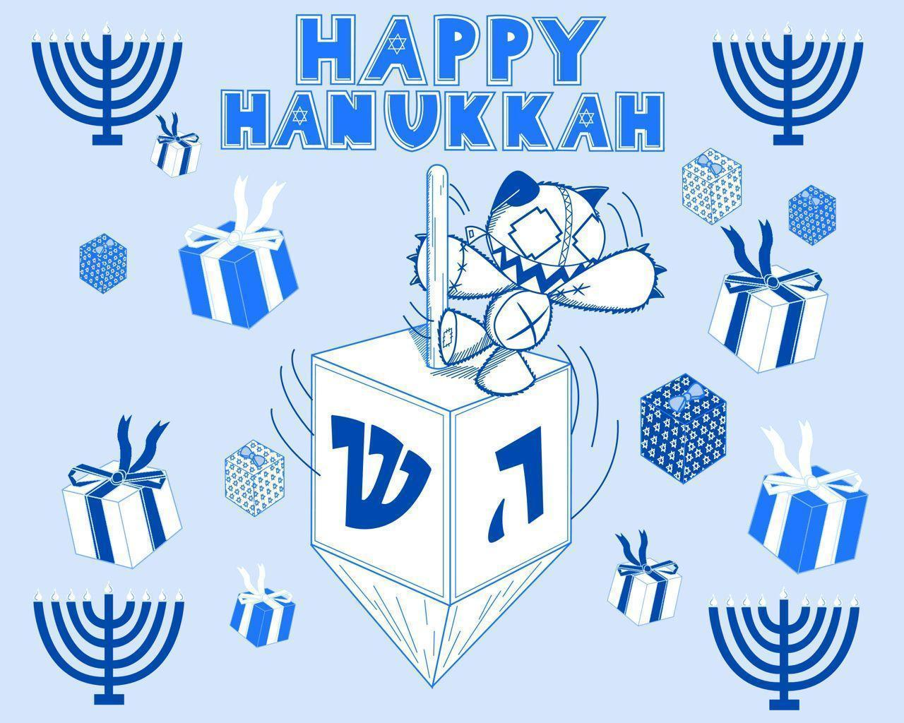 Tashy Hanukkah Wallpaper by Waddle-J on DeviantArt