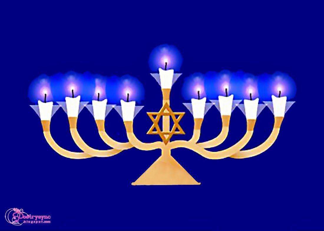 Hanukkah Candle Clip Art Pictures - New Year Greetings Cards
