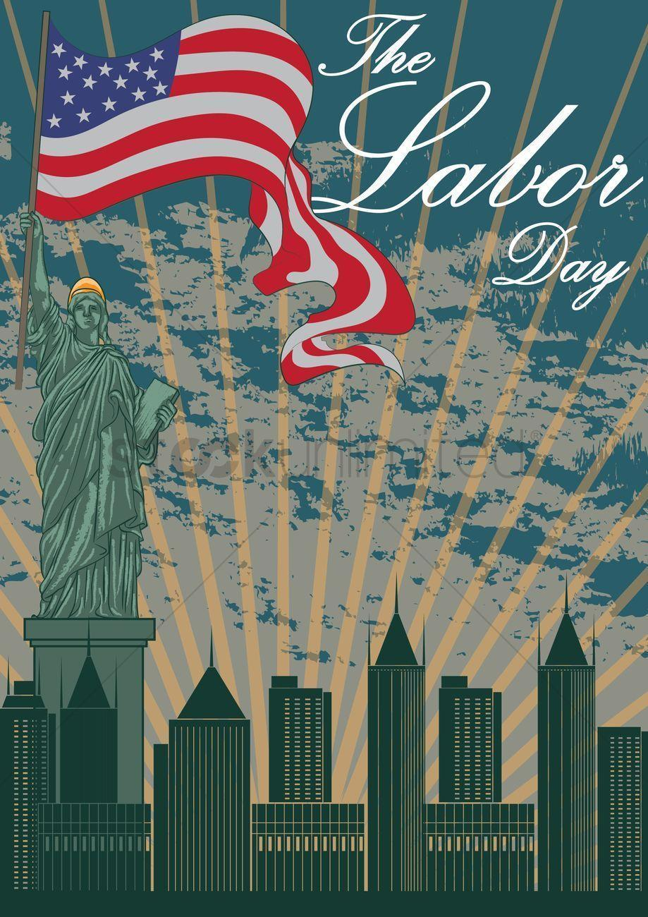 Happy labor day wallpaper Vector Image - 1525884 | StockUnlimited