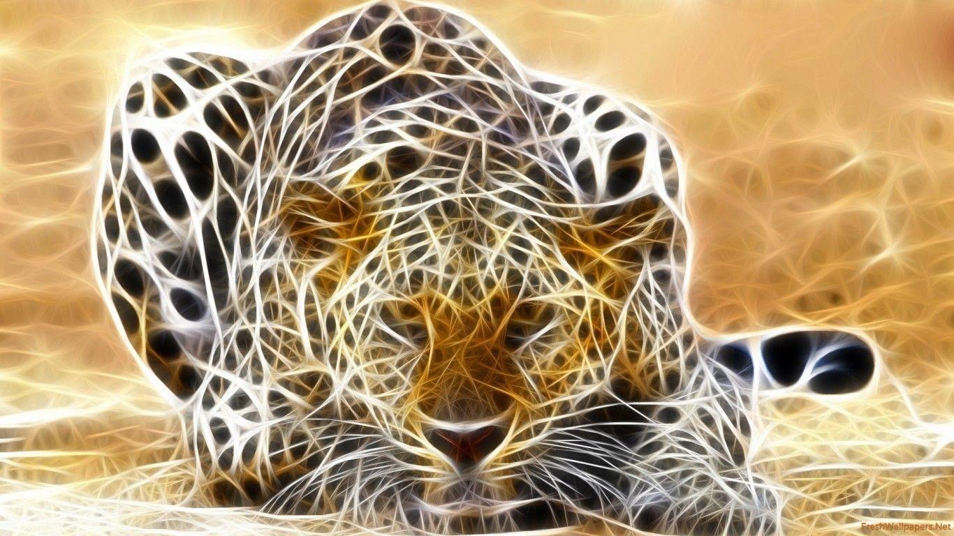 Jaguar 3D Render Fantasy wallpapers | Freshwallpapers