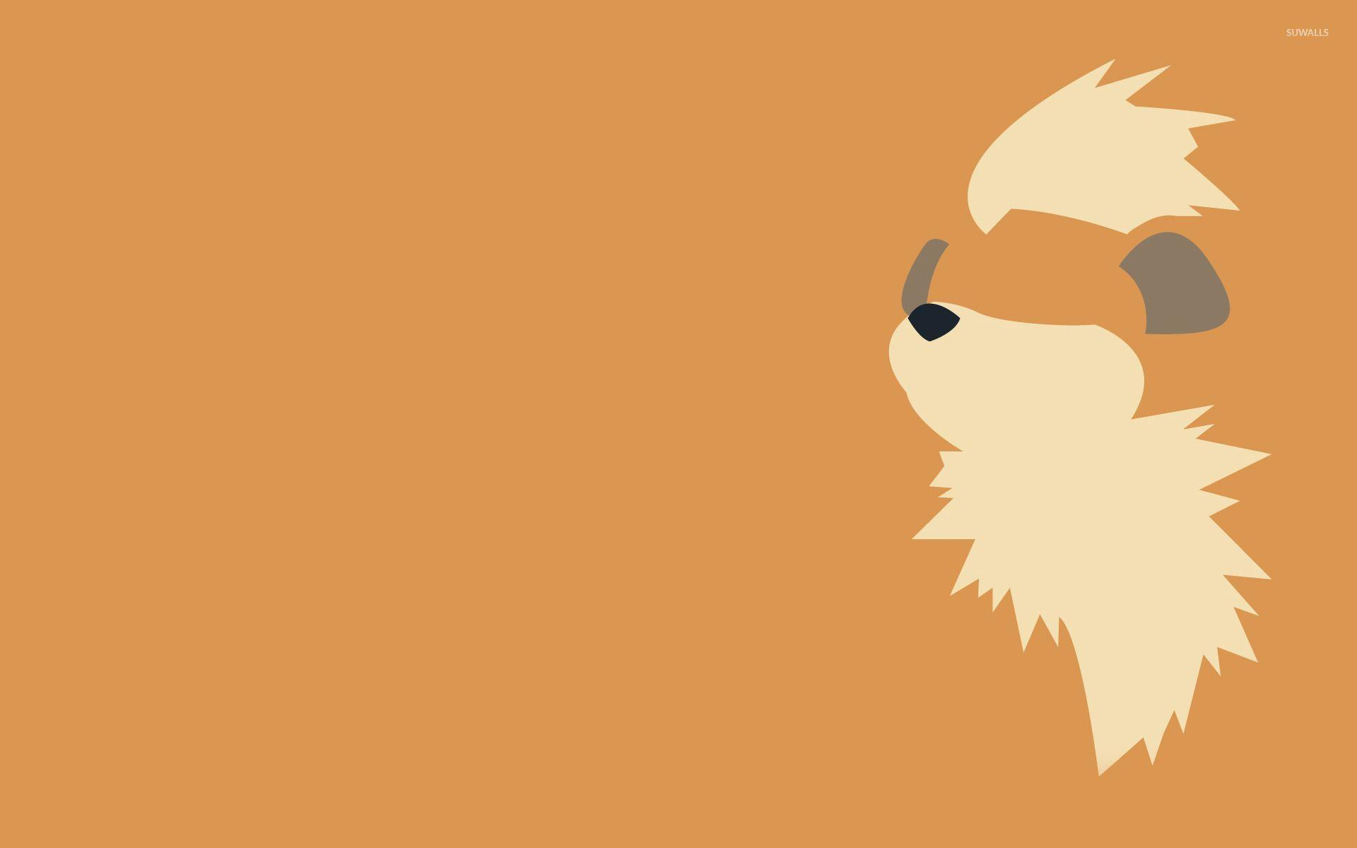 Growlithe wallpaper - Minimalistic wallpapers - #15102