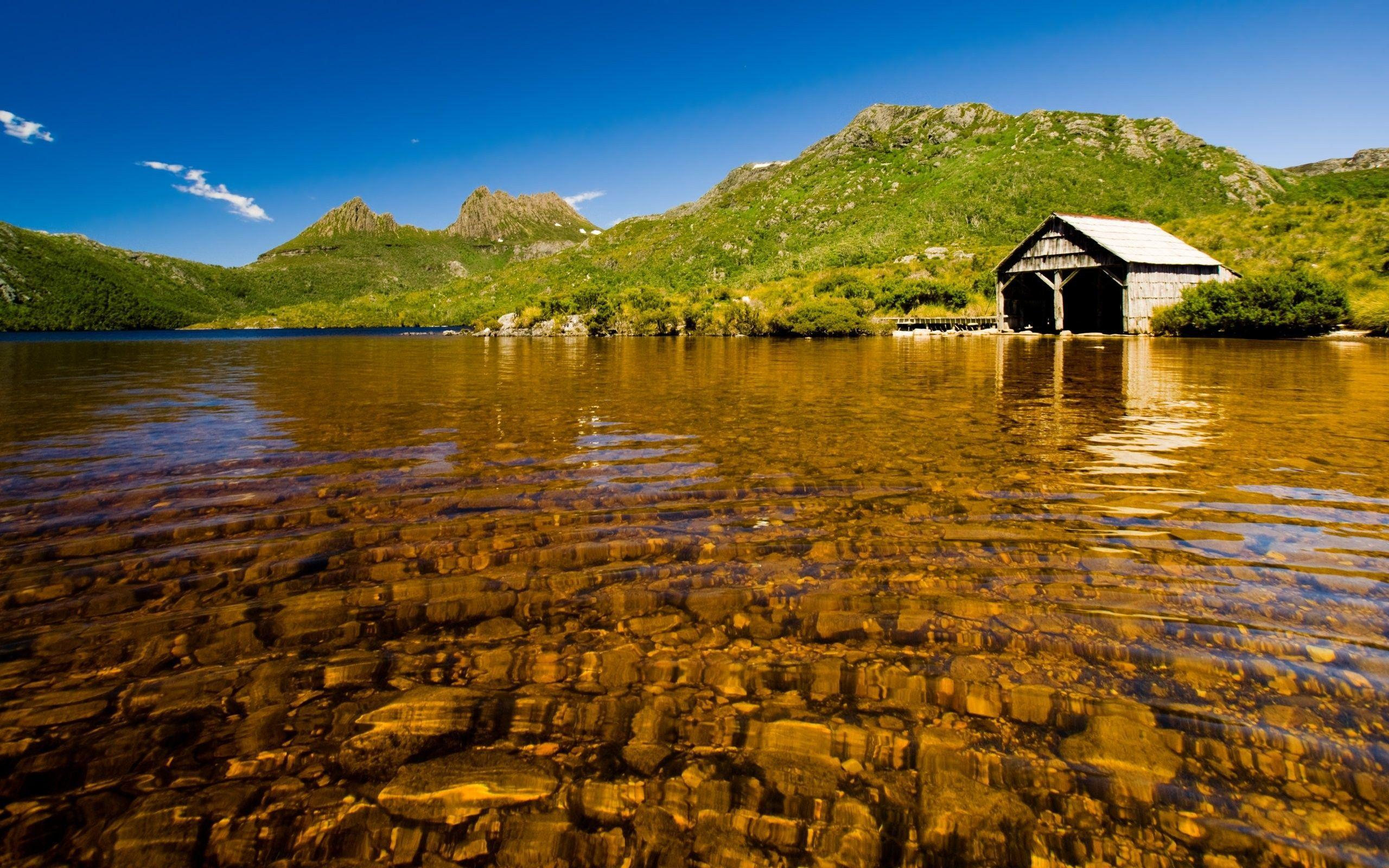 Download the Shallow Boathouse Lake Wallpaper, Shallow Boathouse