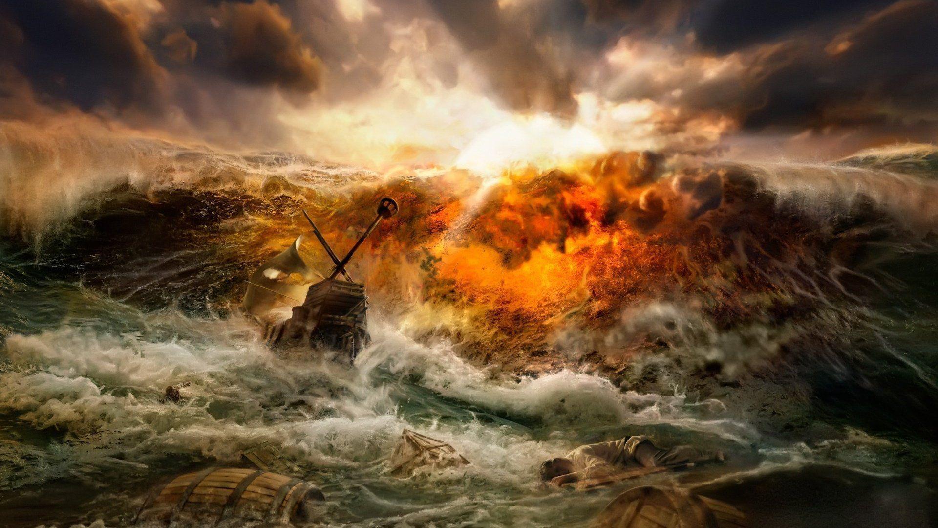 Tsunami Hd Wallpaper