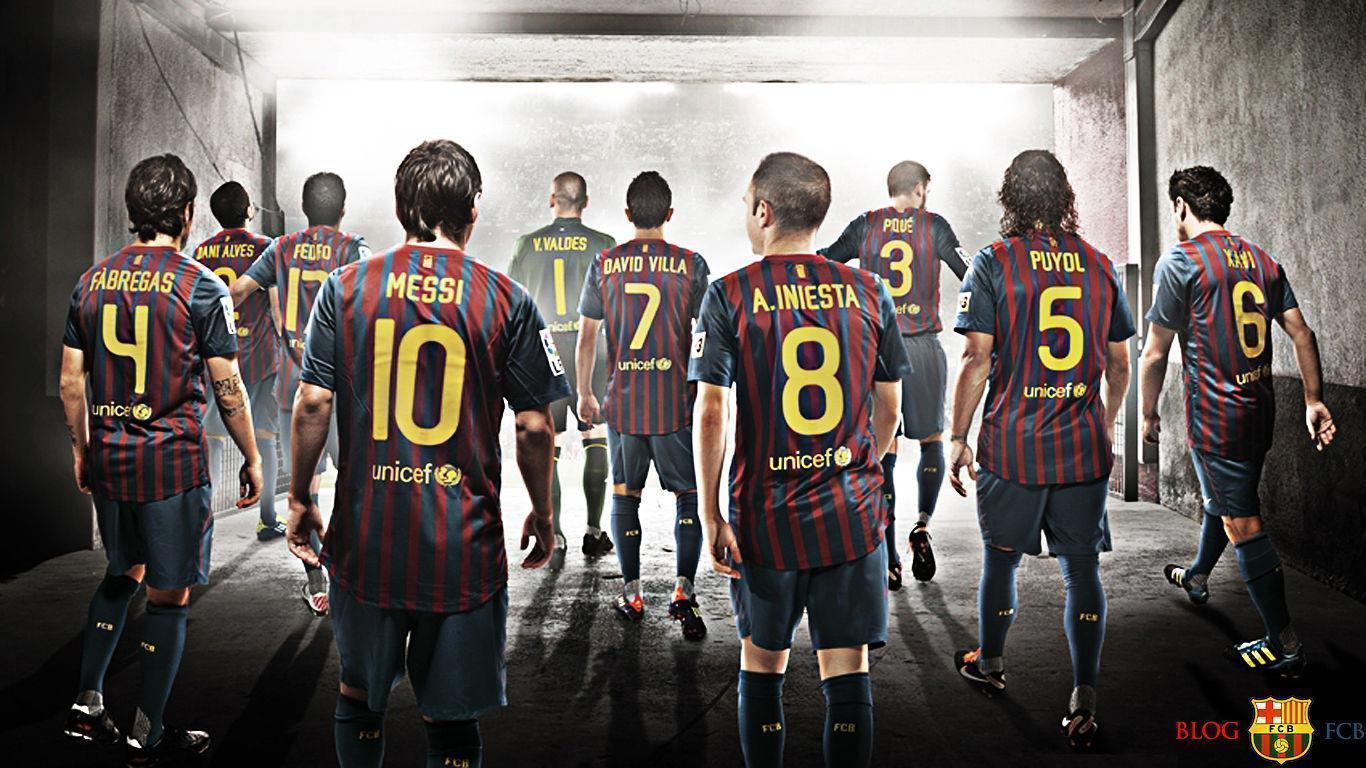 FC Barcelona National Football Team Zoom Background 3