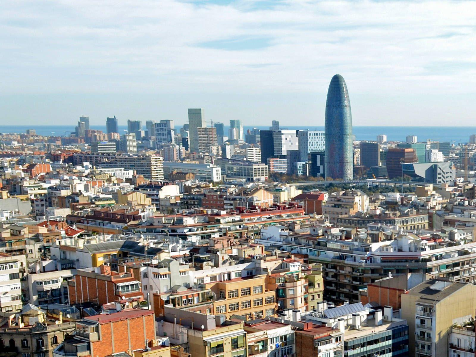 Barcelona city overview in Spain | city wallpaper