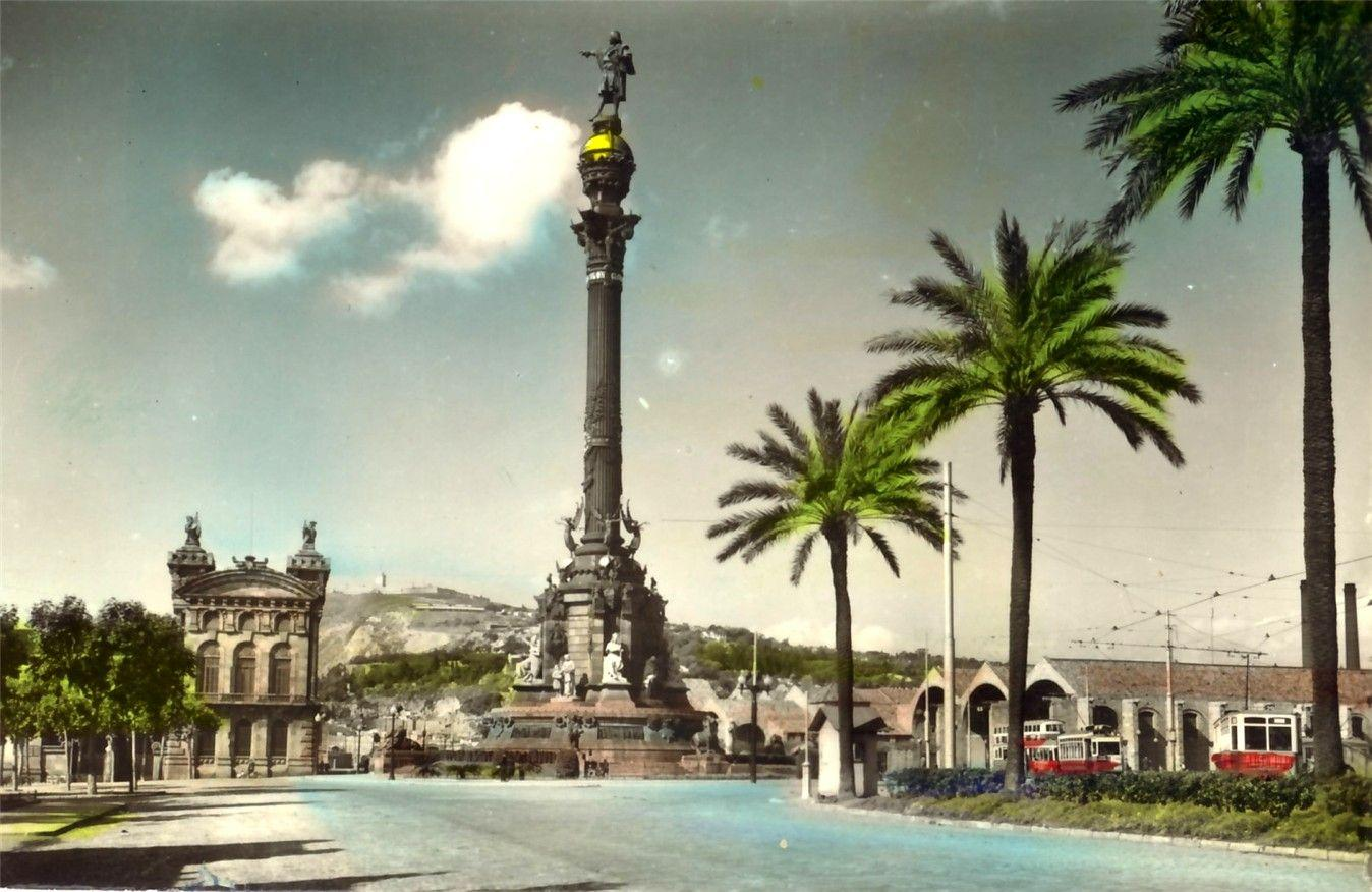 barcelona-monument postcard, barcelona-monument wallpaper ...