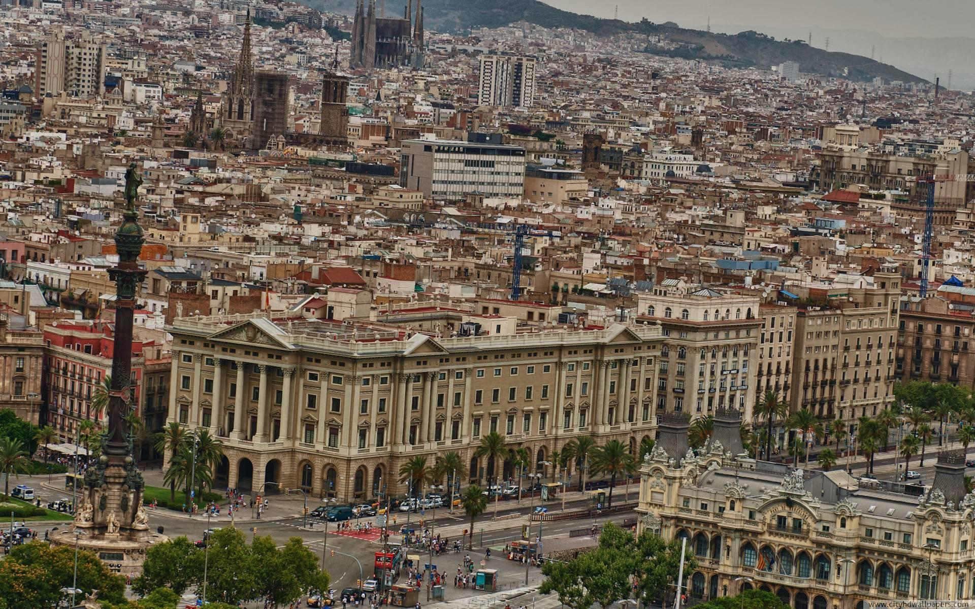 The architectural style of Barcelona city | city wallpaper