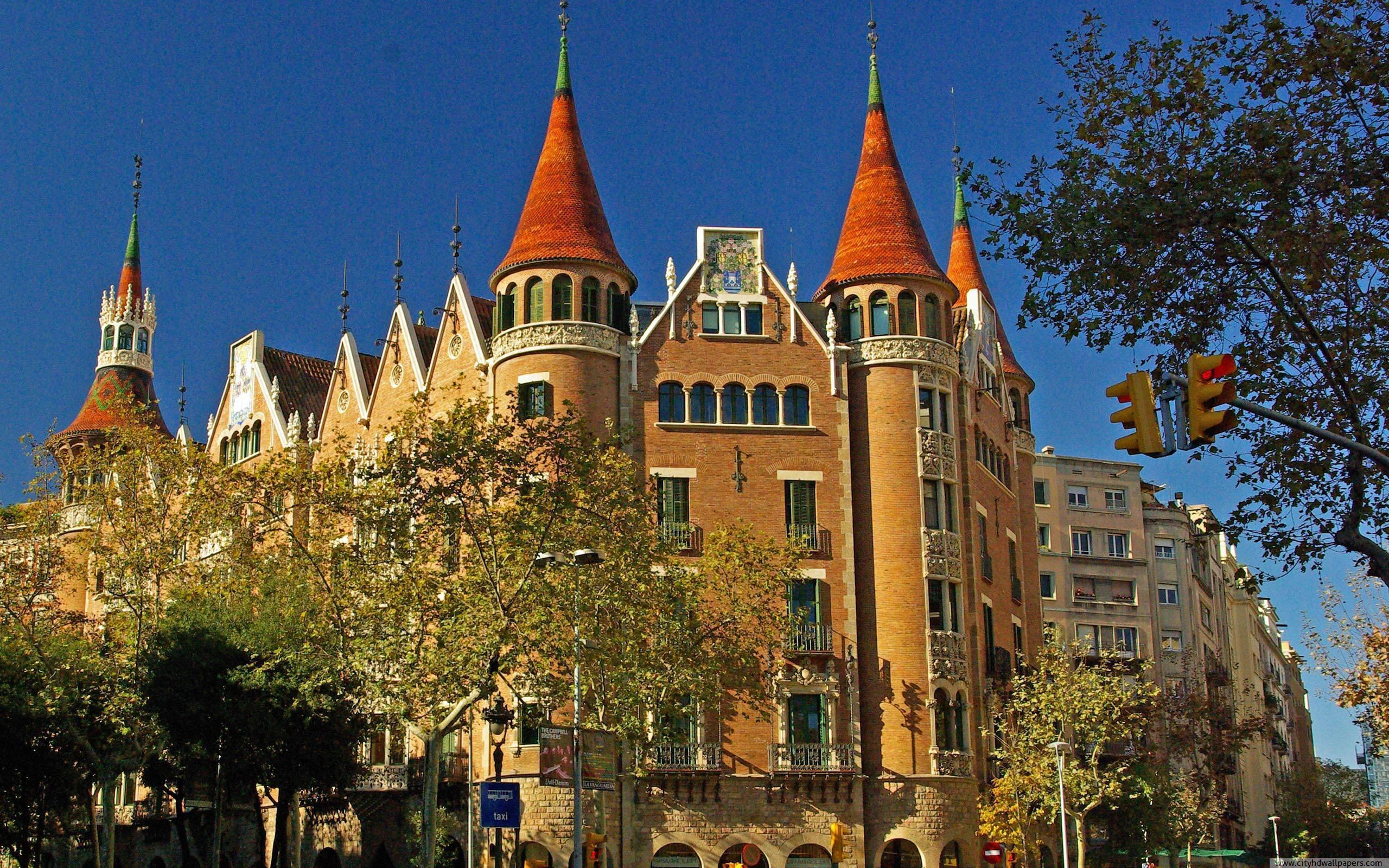 Beautiful building of Casa de las Punxes in Barcelona city | city ...