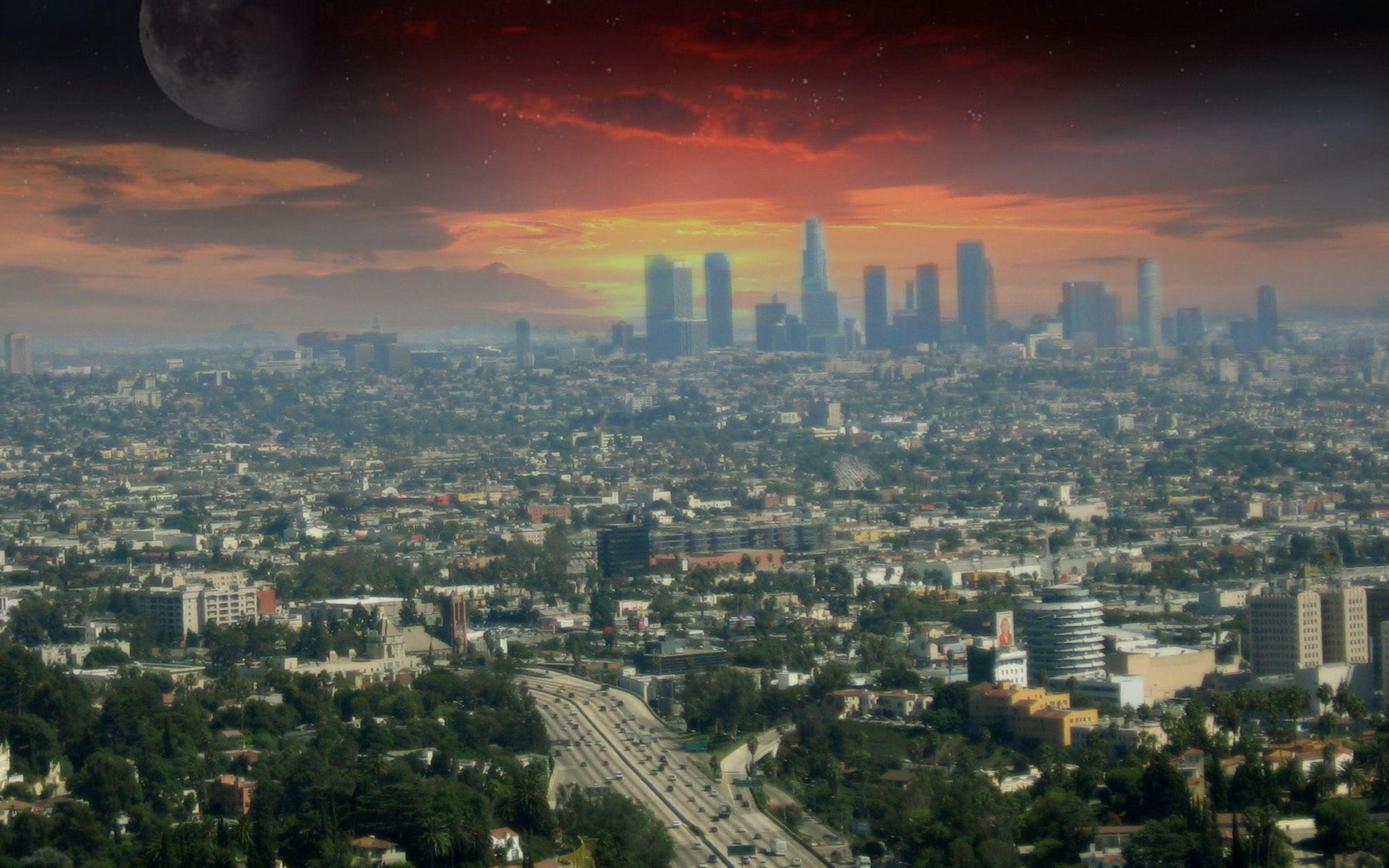 Los Angeles City Wallpaper - WallpaperSafari