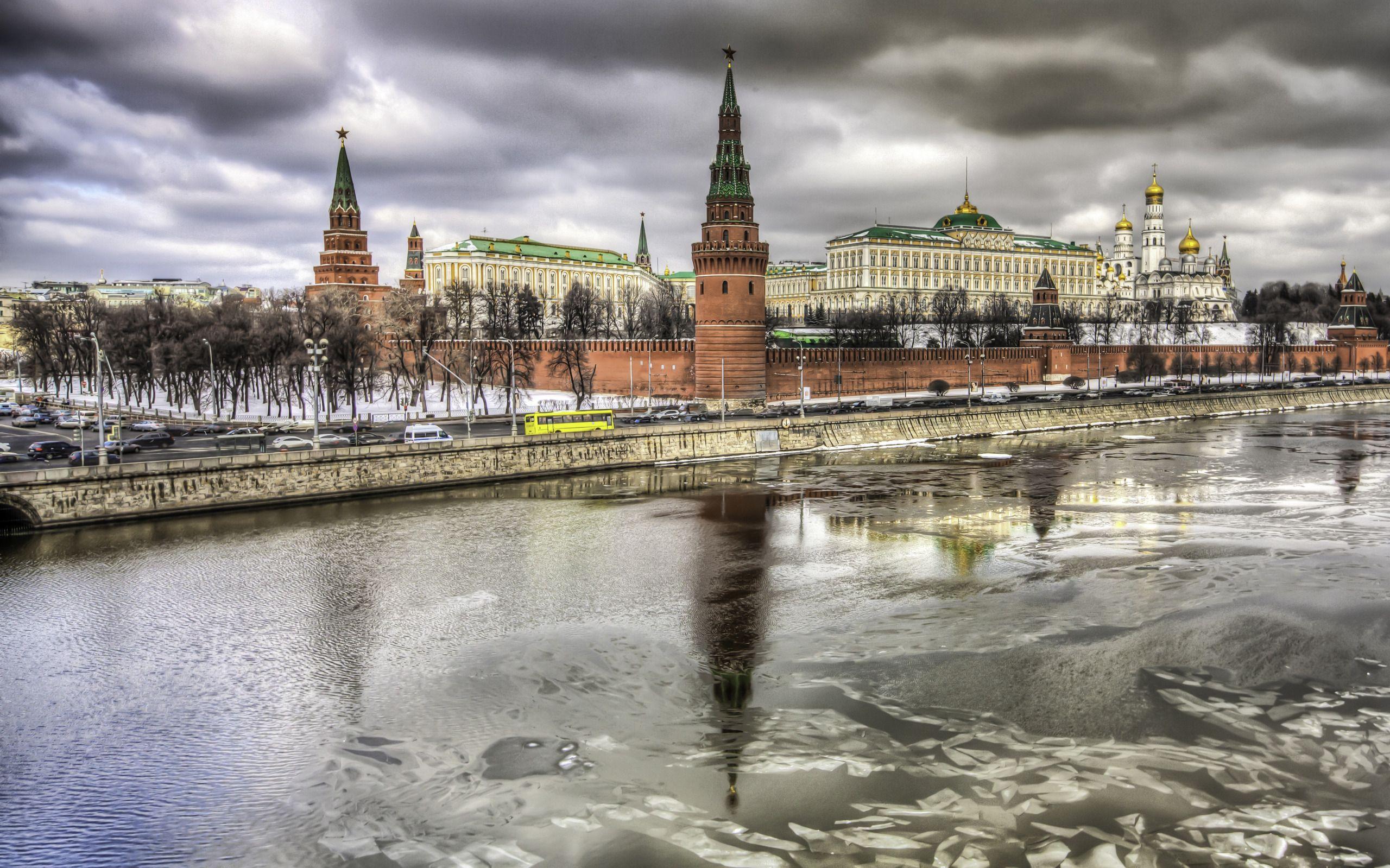Kremlin Palace reflection Moscow widescreen wallpaper | Wide ...