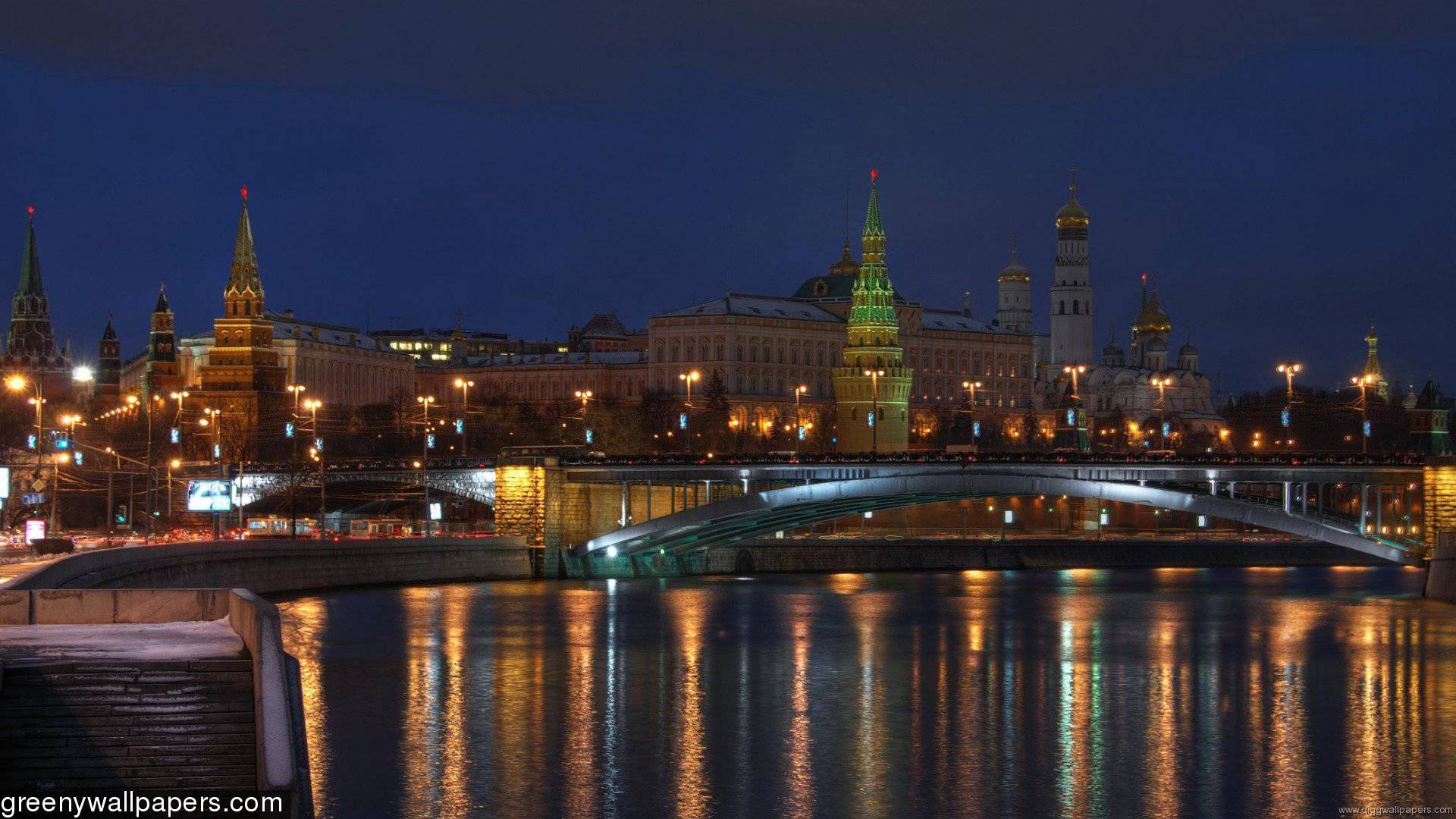 Kremlin Bridge Moscow 1920x1080 Wallpaper
