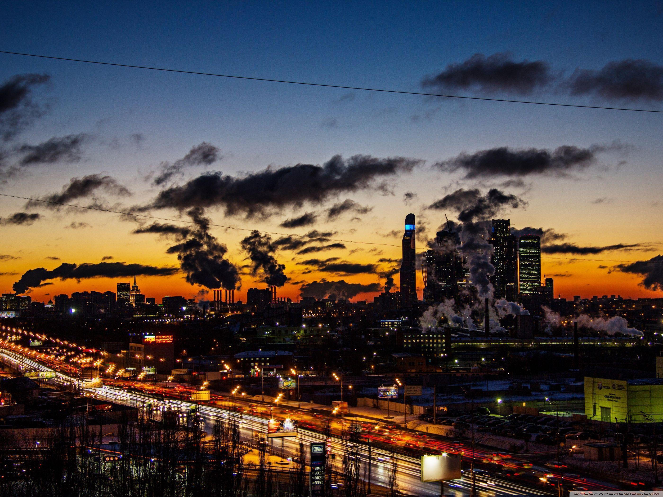 Moscow city 2014 (ART.IRBIS Production) HD desktop wallpaper ...