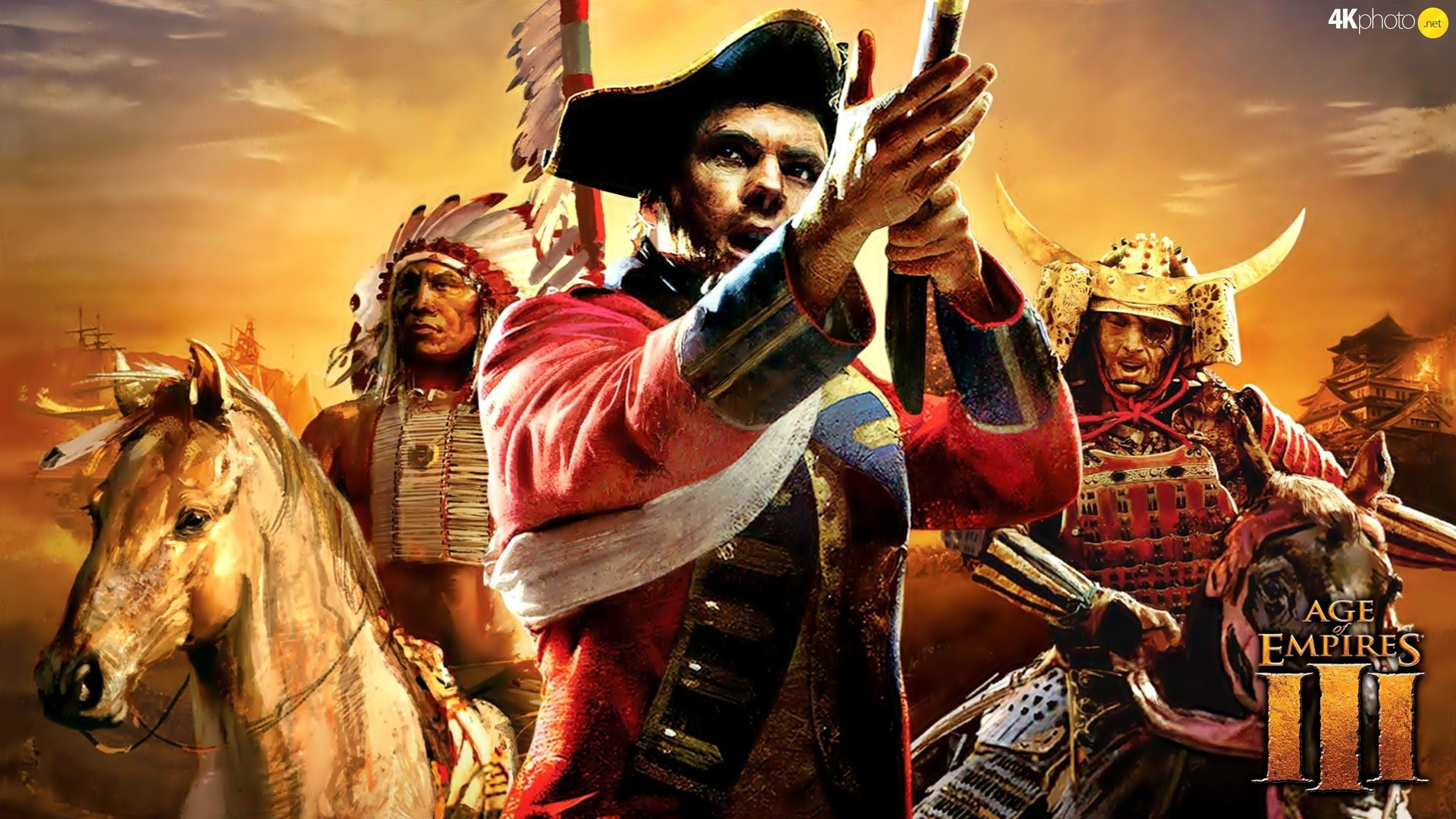Age Of Empires 3 - Puzzle jigsaw wallpapers: 3840x2160