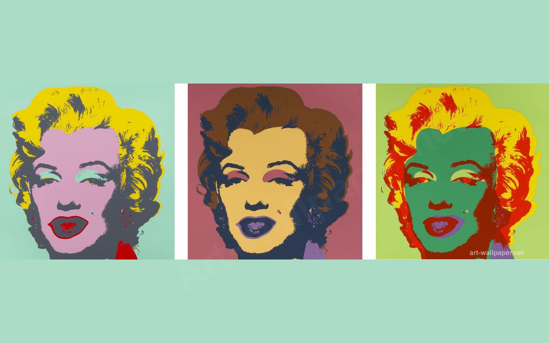 Pop Art Marilyn Monroe Andy Warhol Wallpaper
