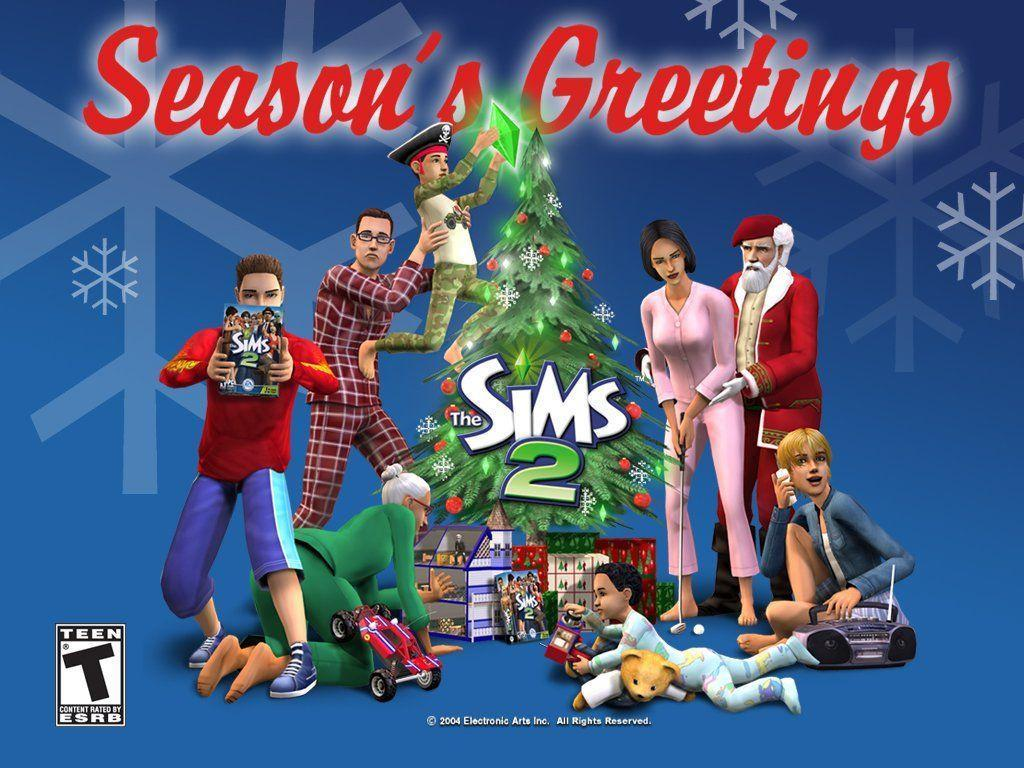 My Free Wallpapers - Games Wallpaper : The Sims 2 - Christmas