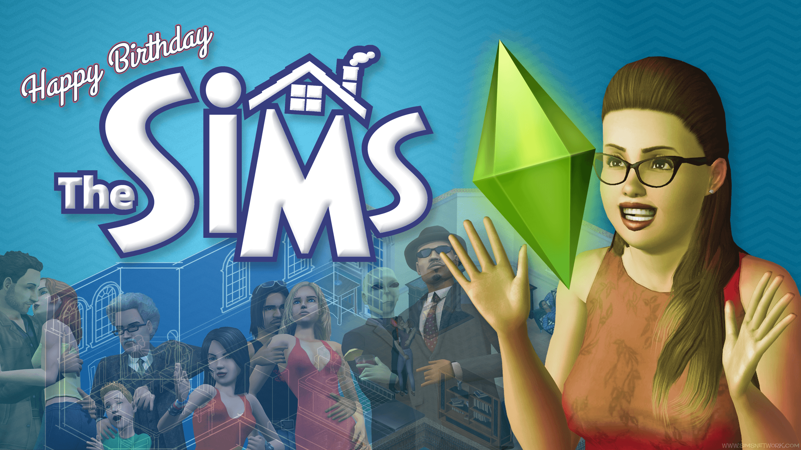 The Sims Anniversary Wallpapers!
