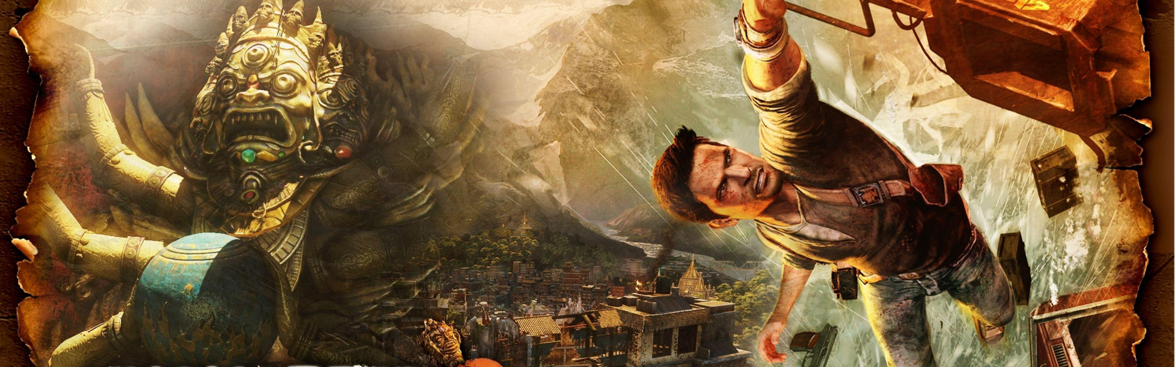 Download Wallpapers 3840x1200 Uncharted 2 among thieves, City