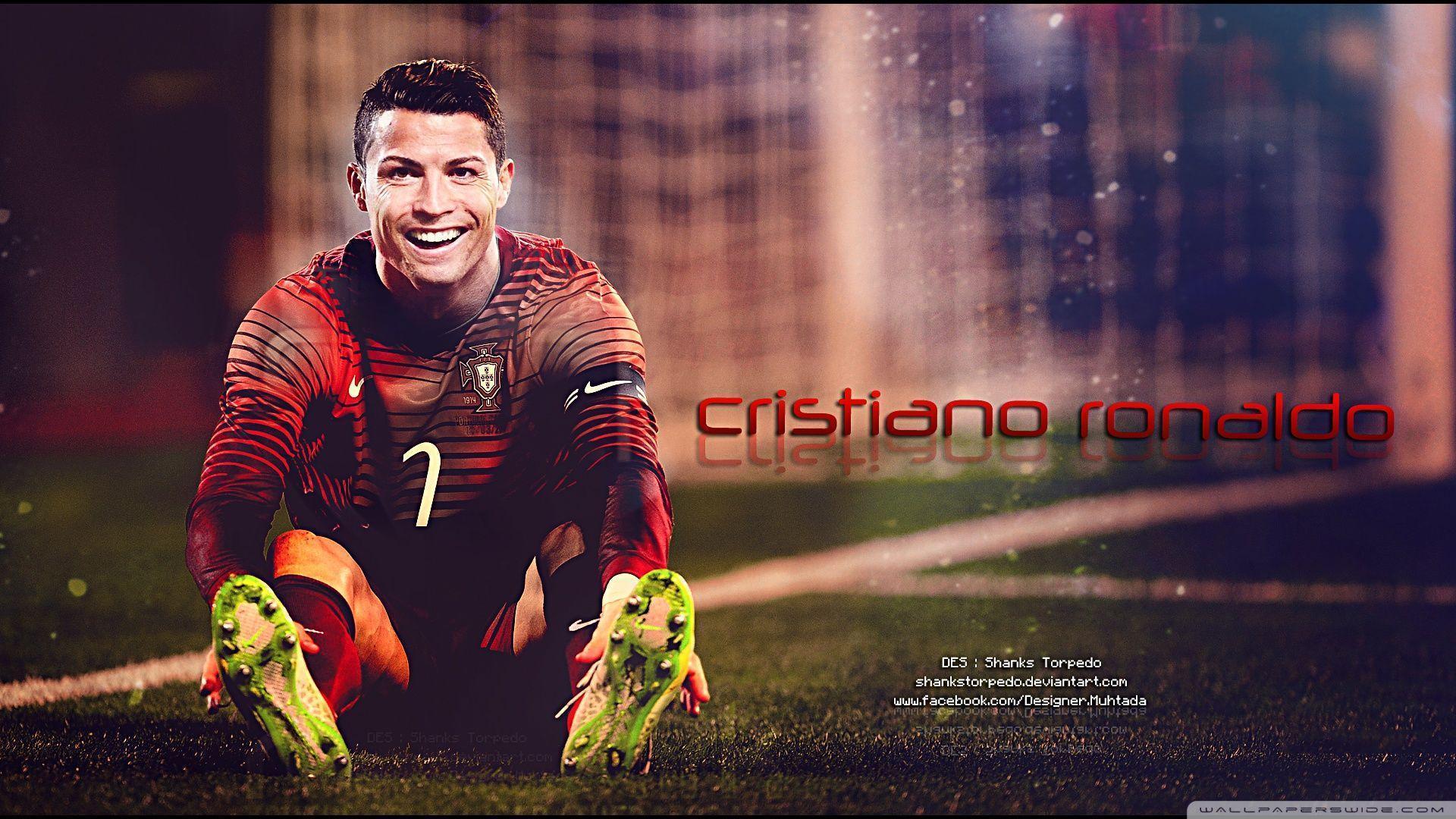 Gold painting of Cristiano Ronaldo HD desktop wallpaper ...