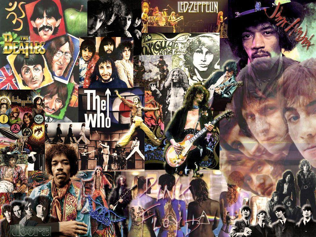 Rock N Roll Collage - wallpaper.