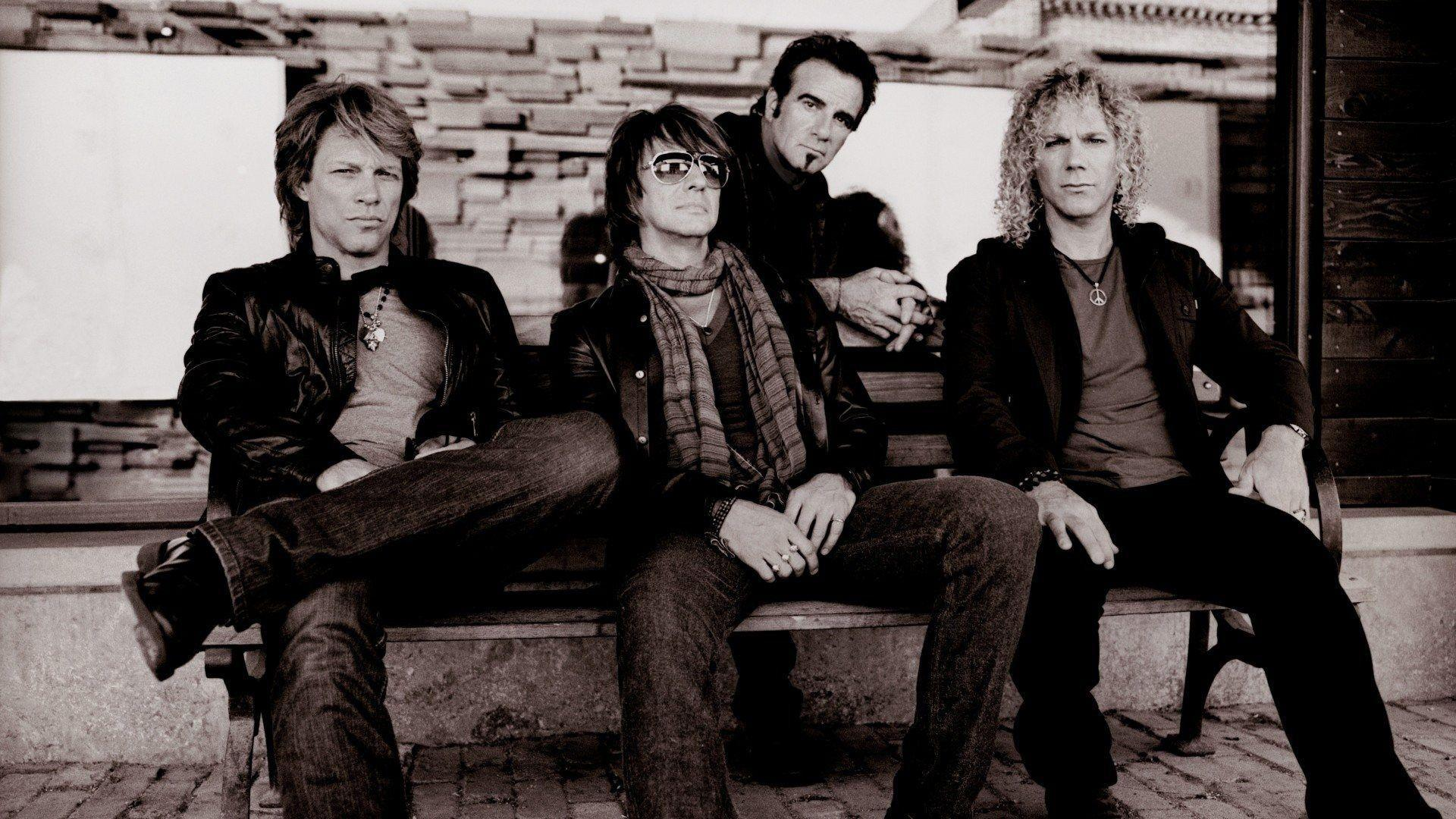 Bon Jovi Rock n Roll Band music background in 1920x1080 resolution ...