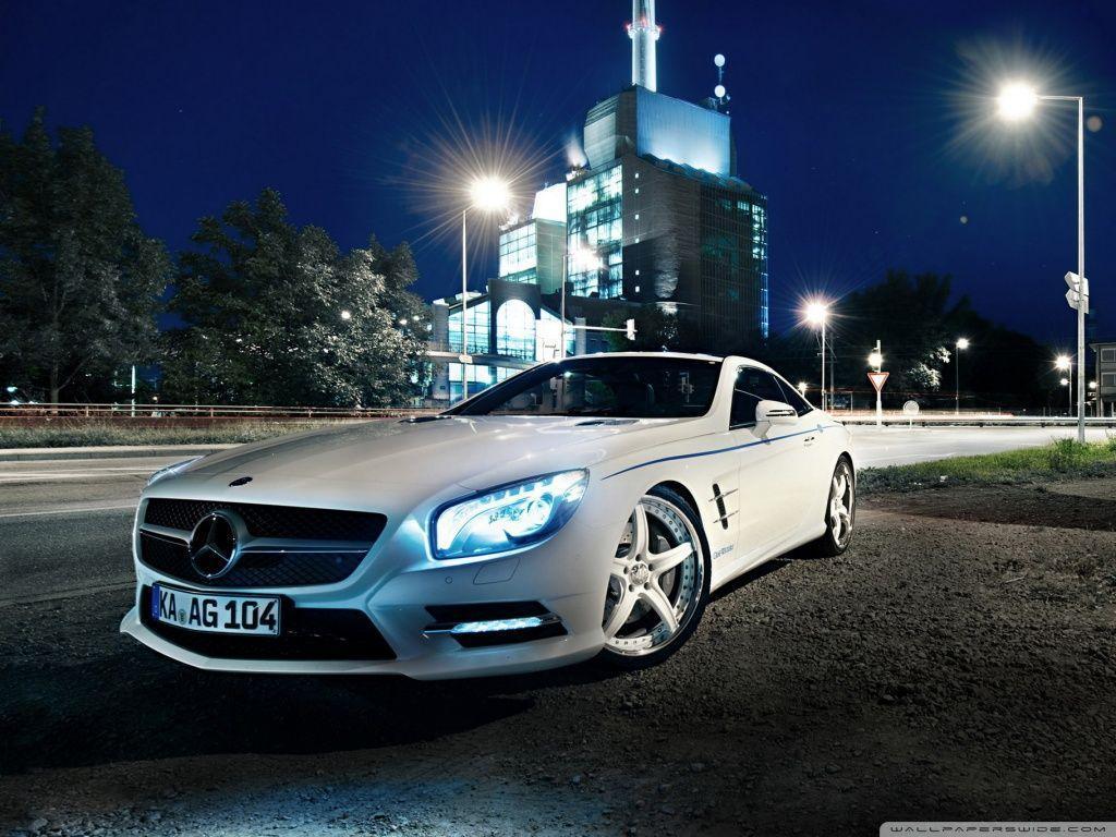 Mercedes Benz SL500, Night HD desktop wallpaper : Widescreen ...