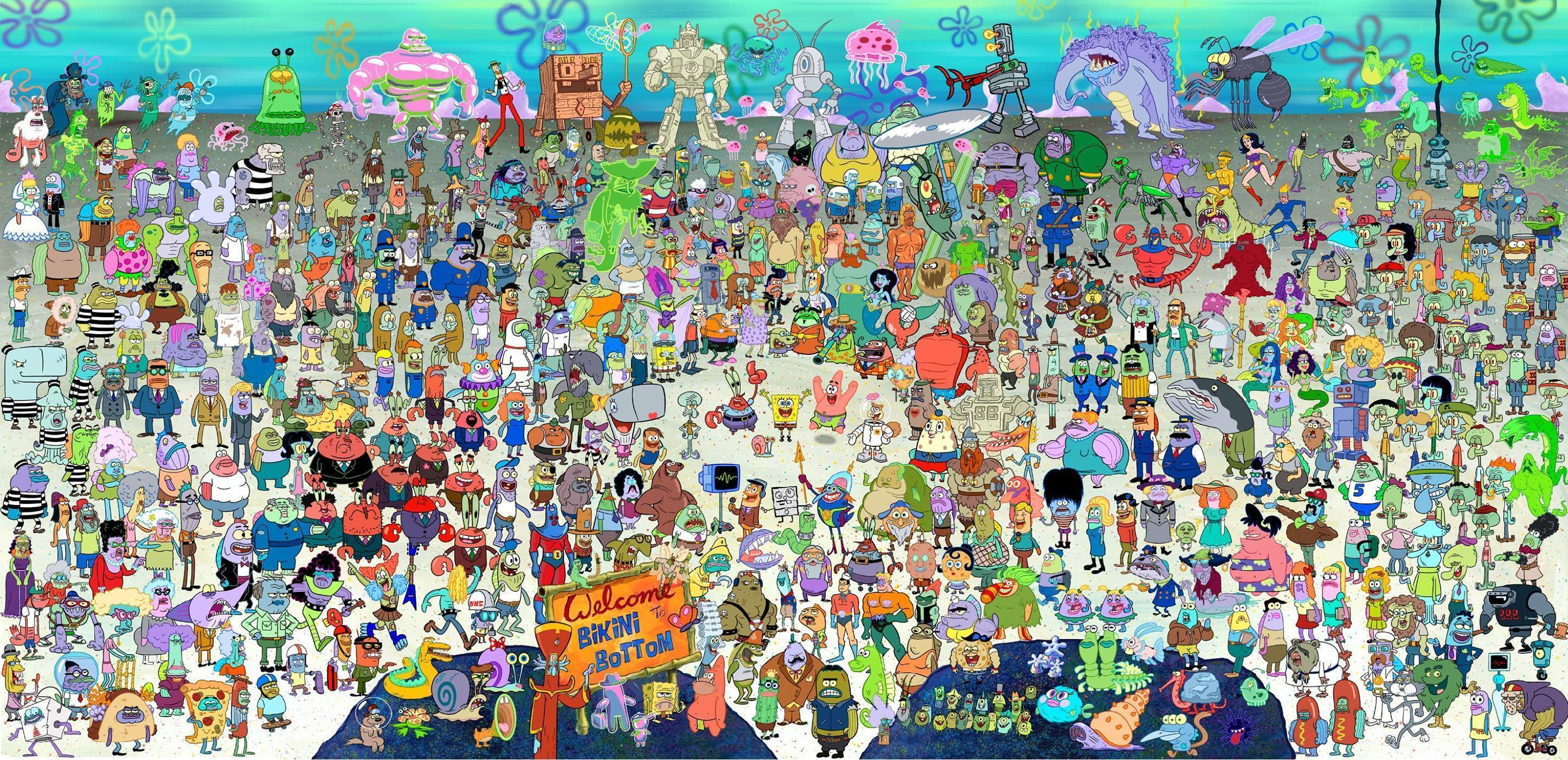 Spongebob Widescreen Background Wallpapers [276] - HD Wallpaper ...