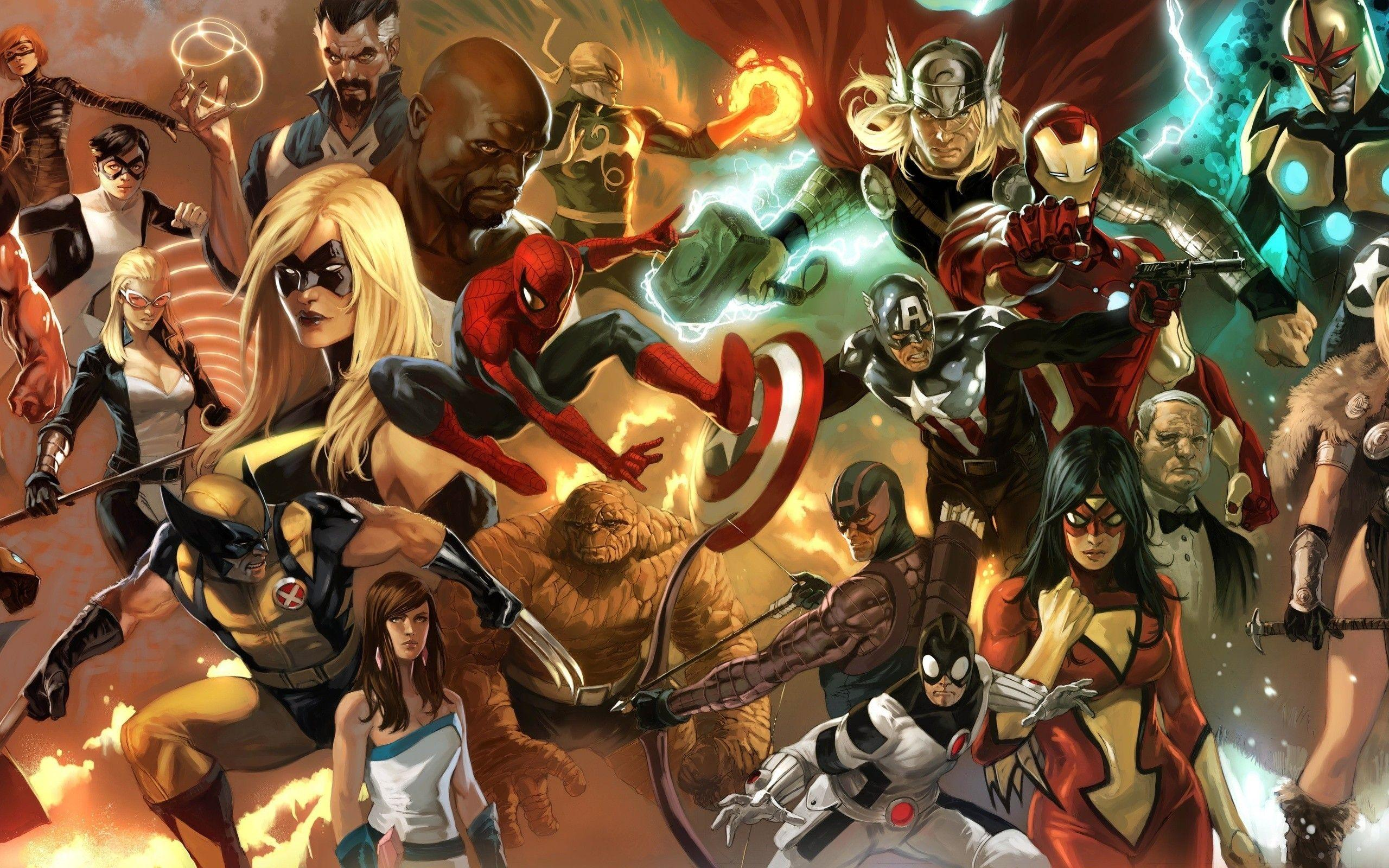 Marvel Cartoon Wallpapers Wallpaper Cave