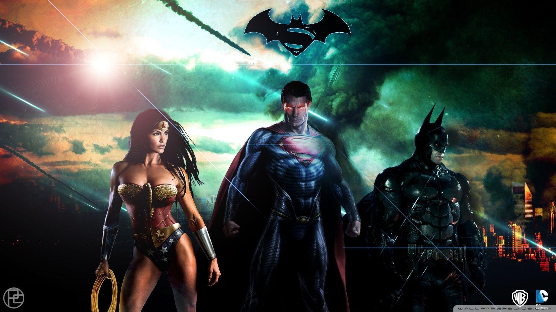 Superman Batman Wonderwoman DC HD desktop wallpaper : High ...