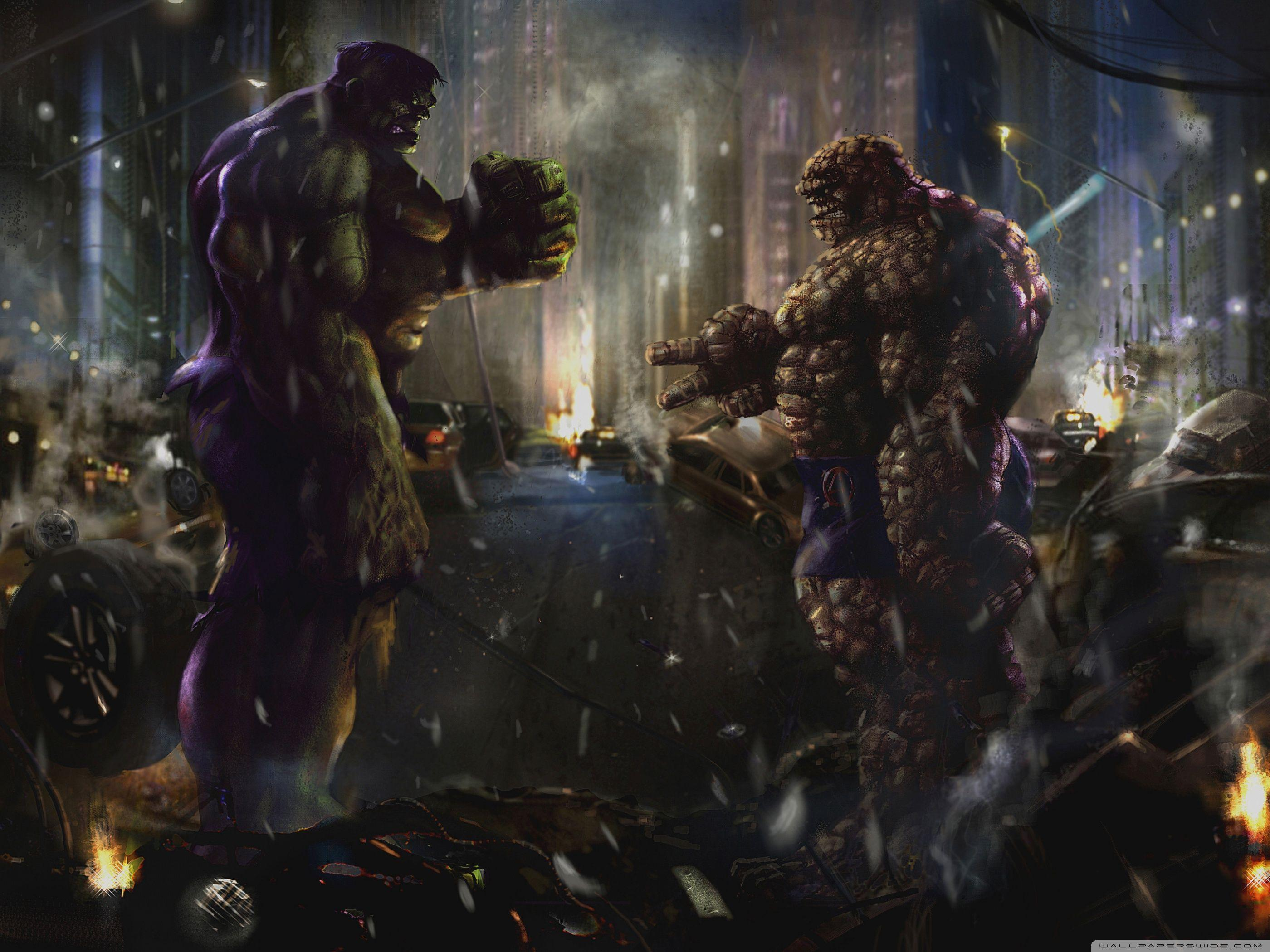 Hulk vs Thing HD desktop wallpaper : High Definition : Fullscreen