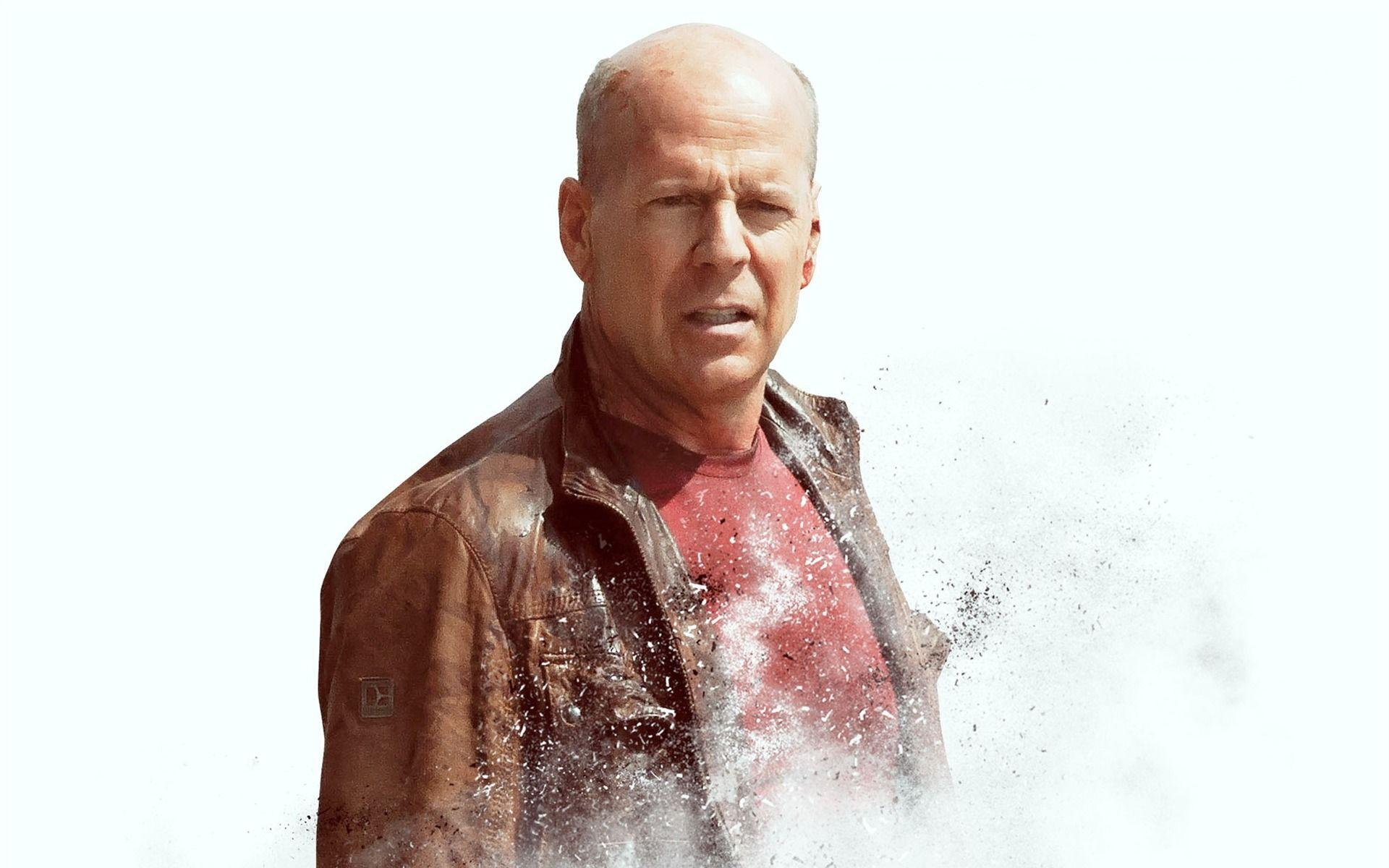 Famous movie actor Bruce Willis on white background wallpapers and ...