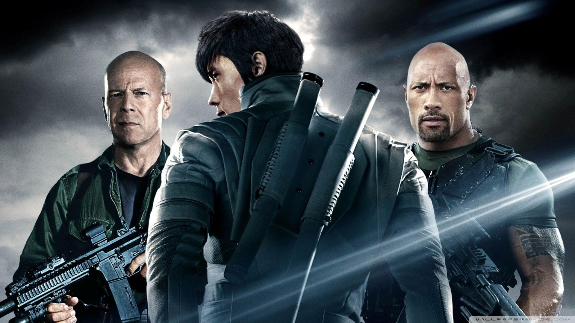 G.I. Joe Retaliation - Dwayne Johnson, Bruce Willis HD desktop ...