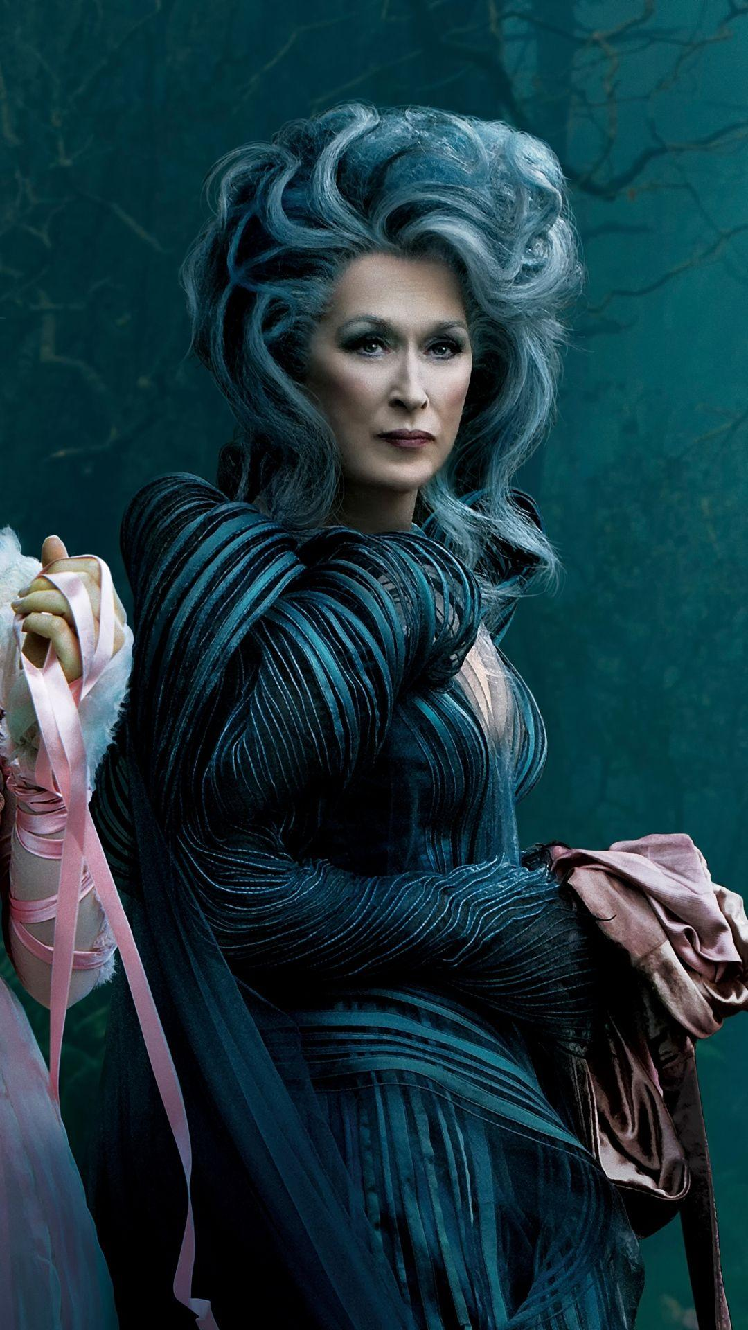Download Wallpaper 1080x1920 Into the woods, Meryl streep ...