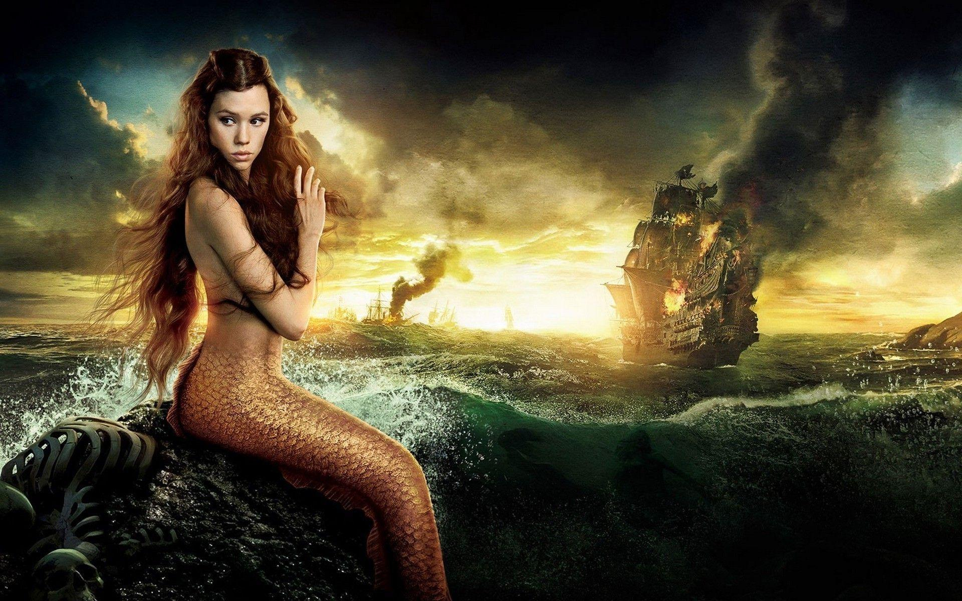 Pirates Of The Caribbean Beautiful Mermaid Desktop Wallpapers