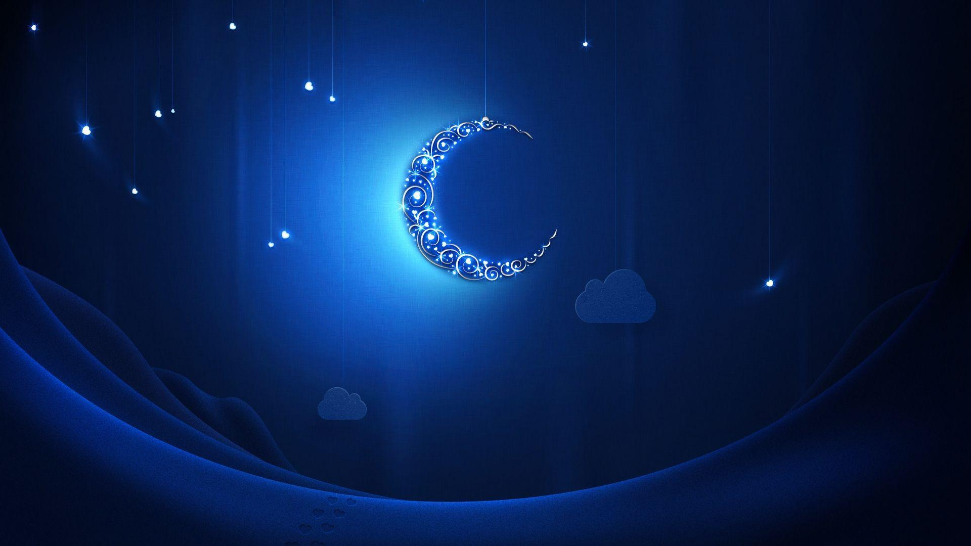 Blue moon at Ramadan wallpapers and images - wallpapers, pictures ...