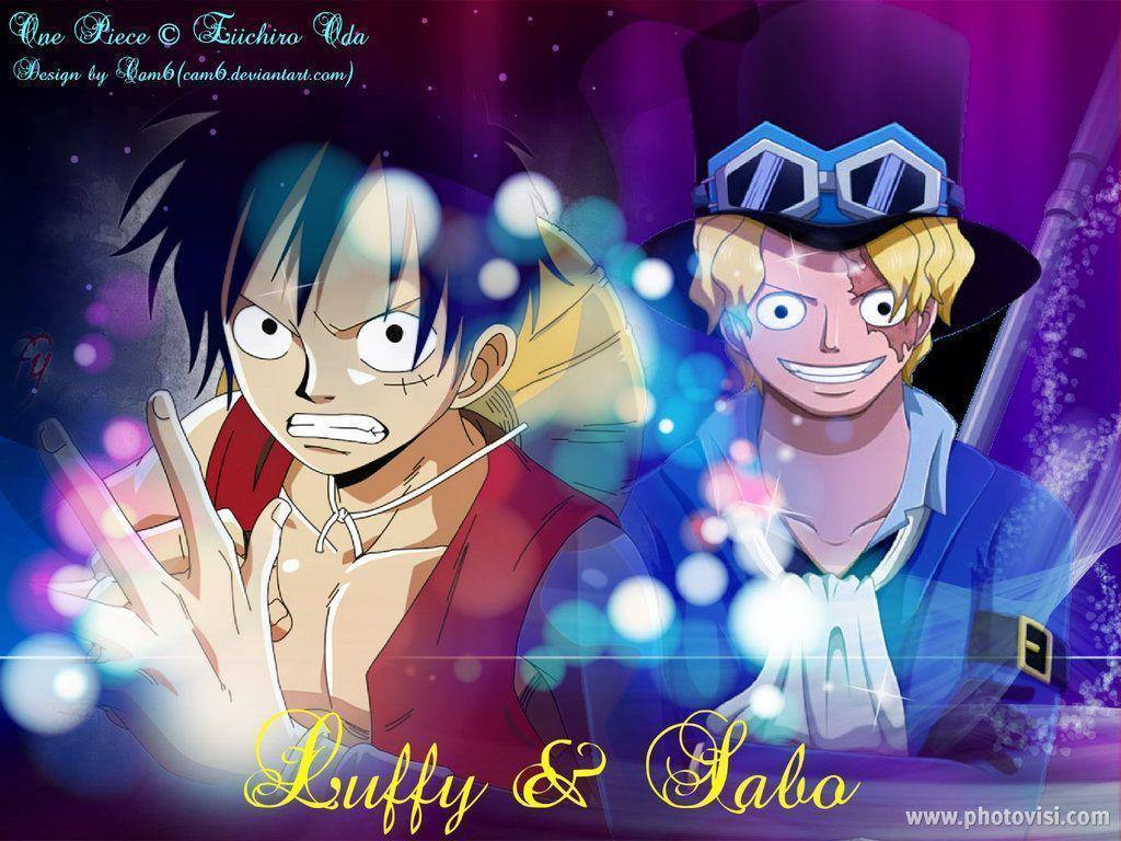 One Piece Wallpaper: Luffy and Sabo by cam6