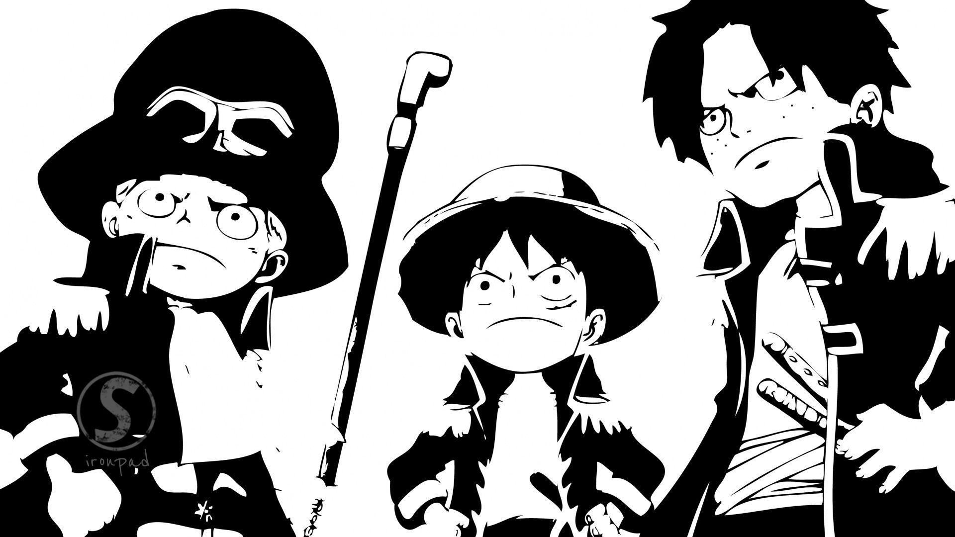 Wallpapers Ace Luffy Sabo And By Ironpad Dibgy Stock 1920x1080