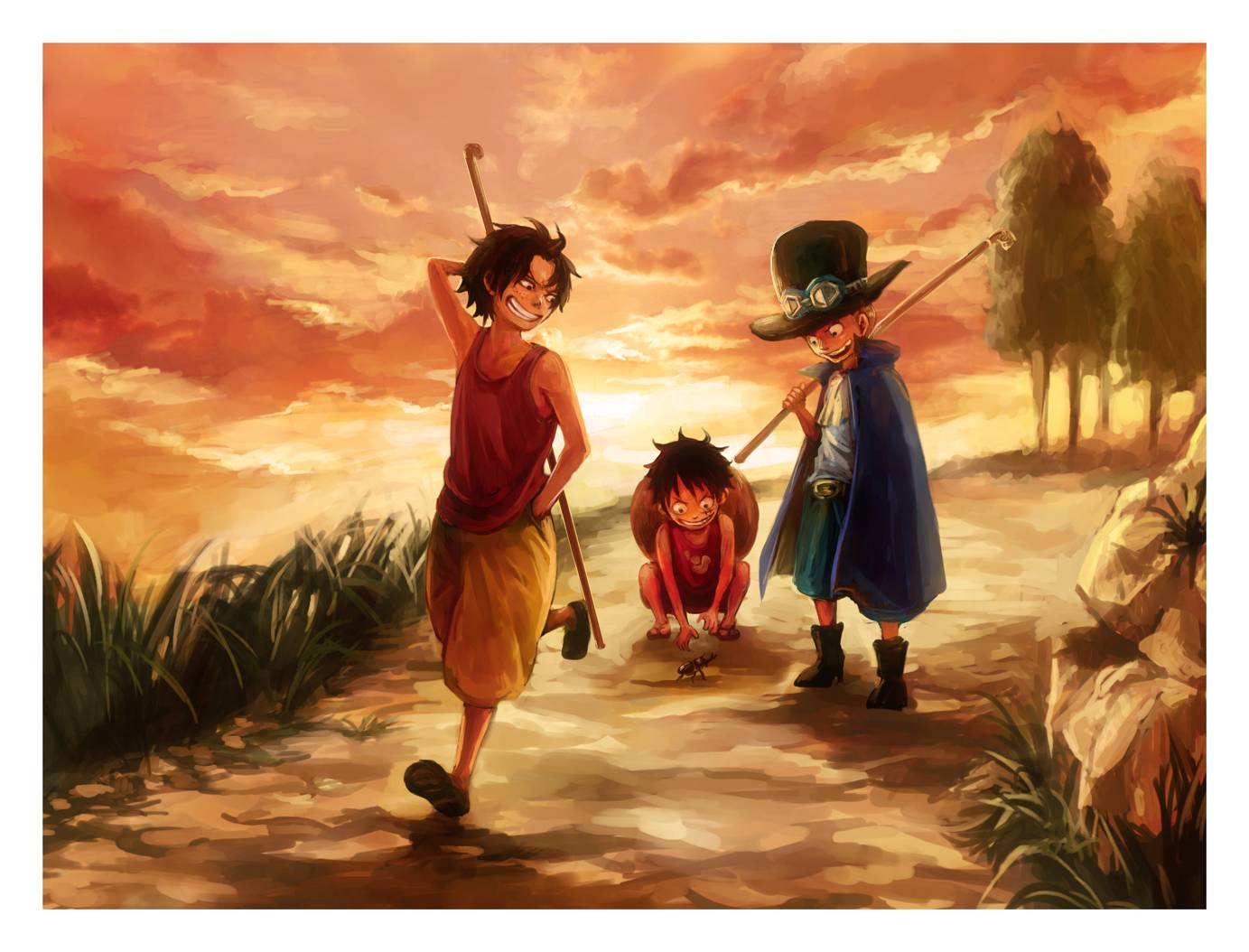 ace and luffy fighting wallpaper - photo #4