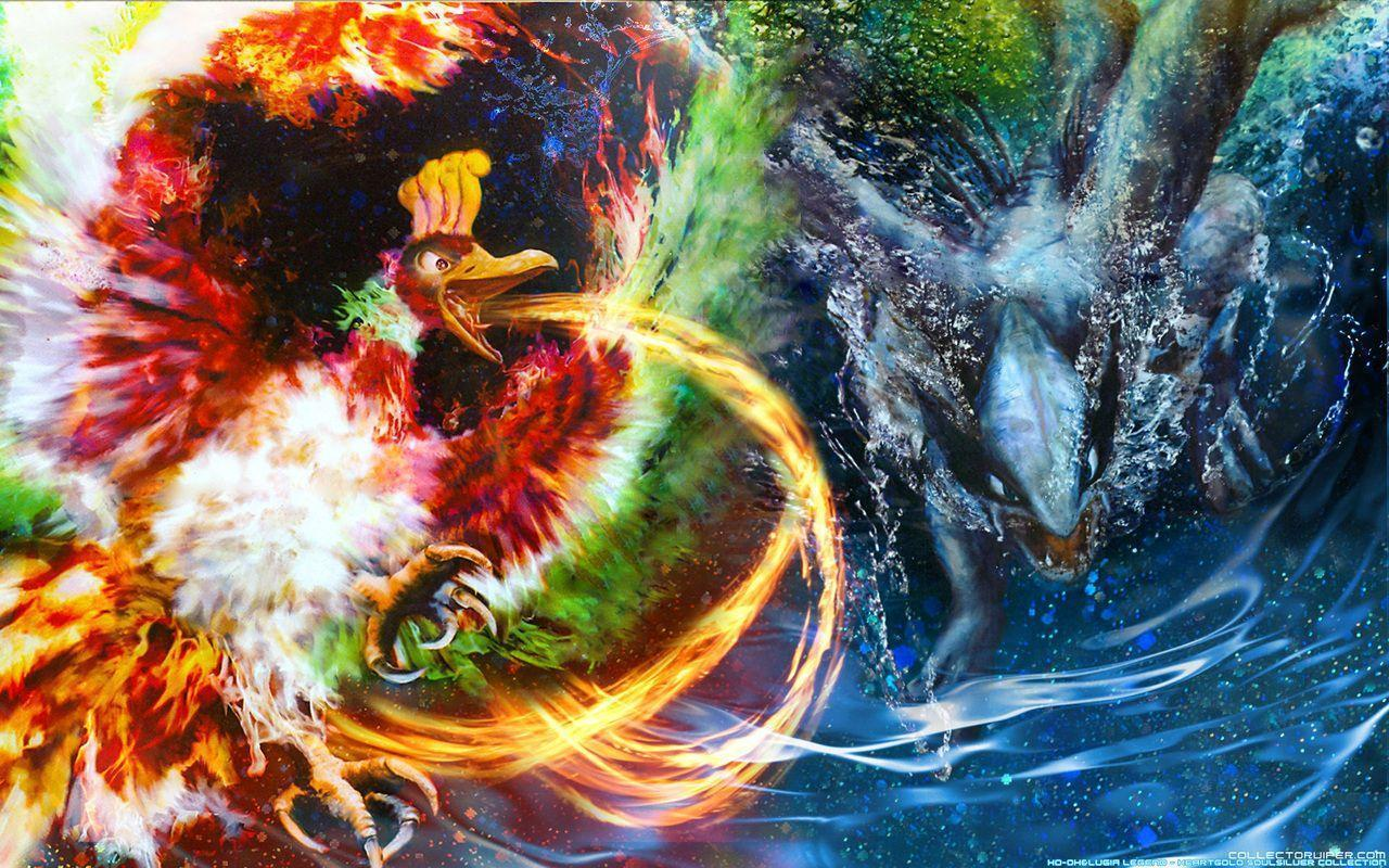 29 Ho-oh (Pokémon) HD Wallpapers | Background Images - Wallpaper Abyss