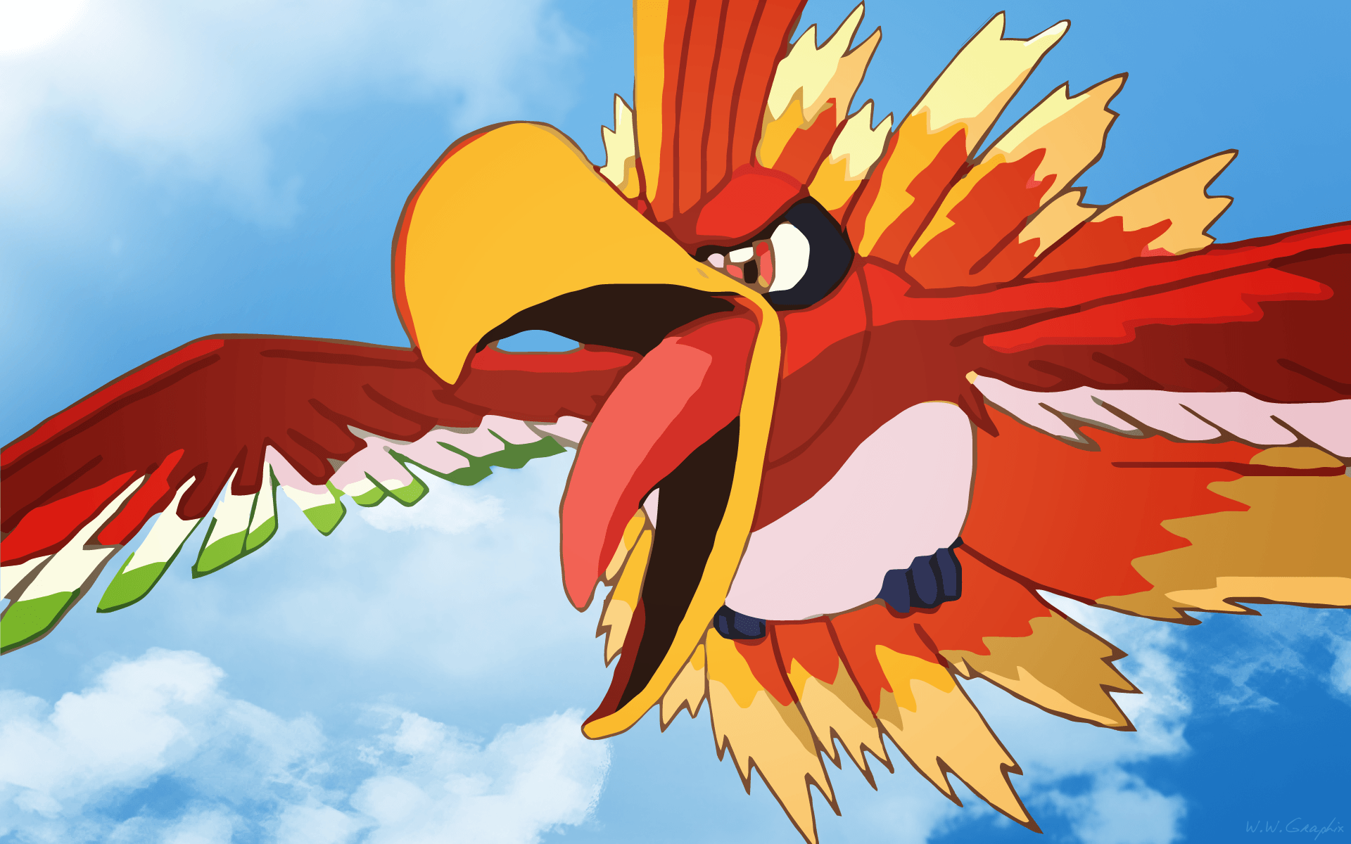 Ho Oh Wallpapers Wallpaper Cave