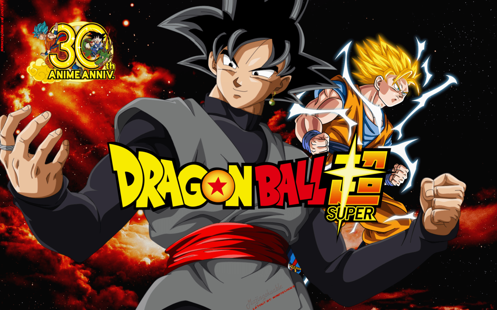 Dragon Ball Super Wallpapers Black Goku and Trunks by WindyEchoes