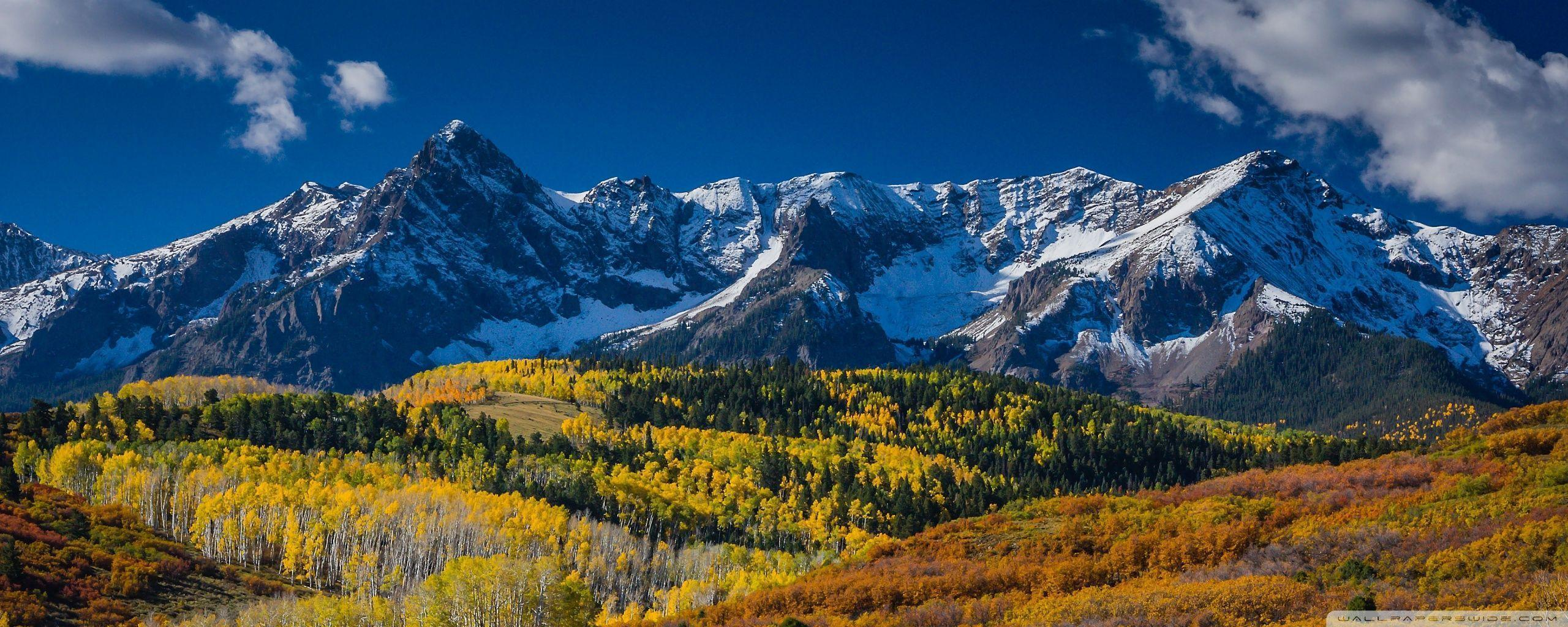 Mountain Landscape In Aspen Colorado Wallpapers