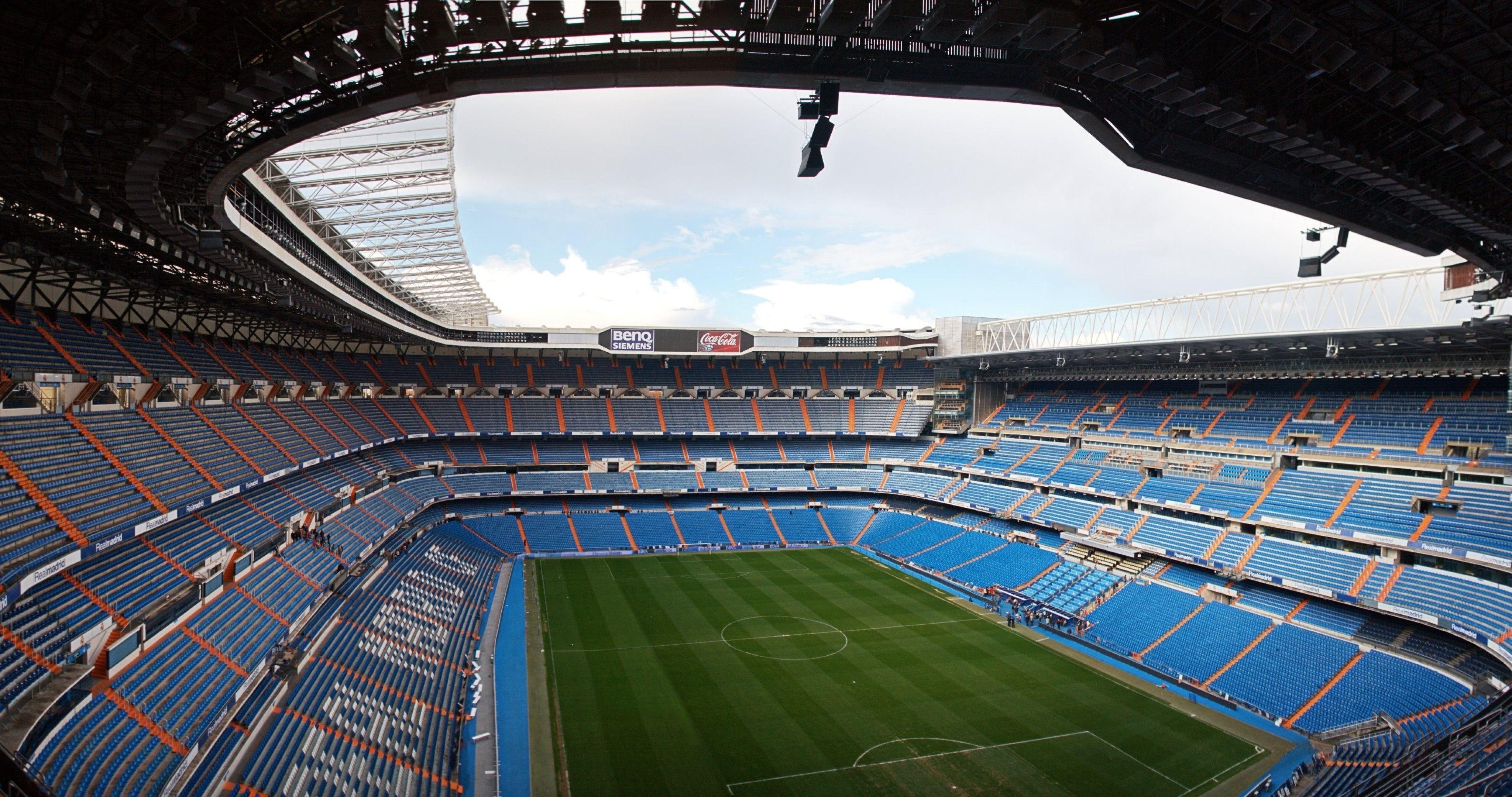 Santiago Bernabeu, Real Madrid, Stadion Wallpaper 4K (4096x2160 .