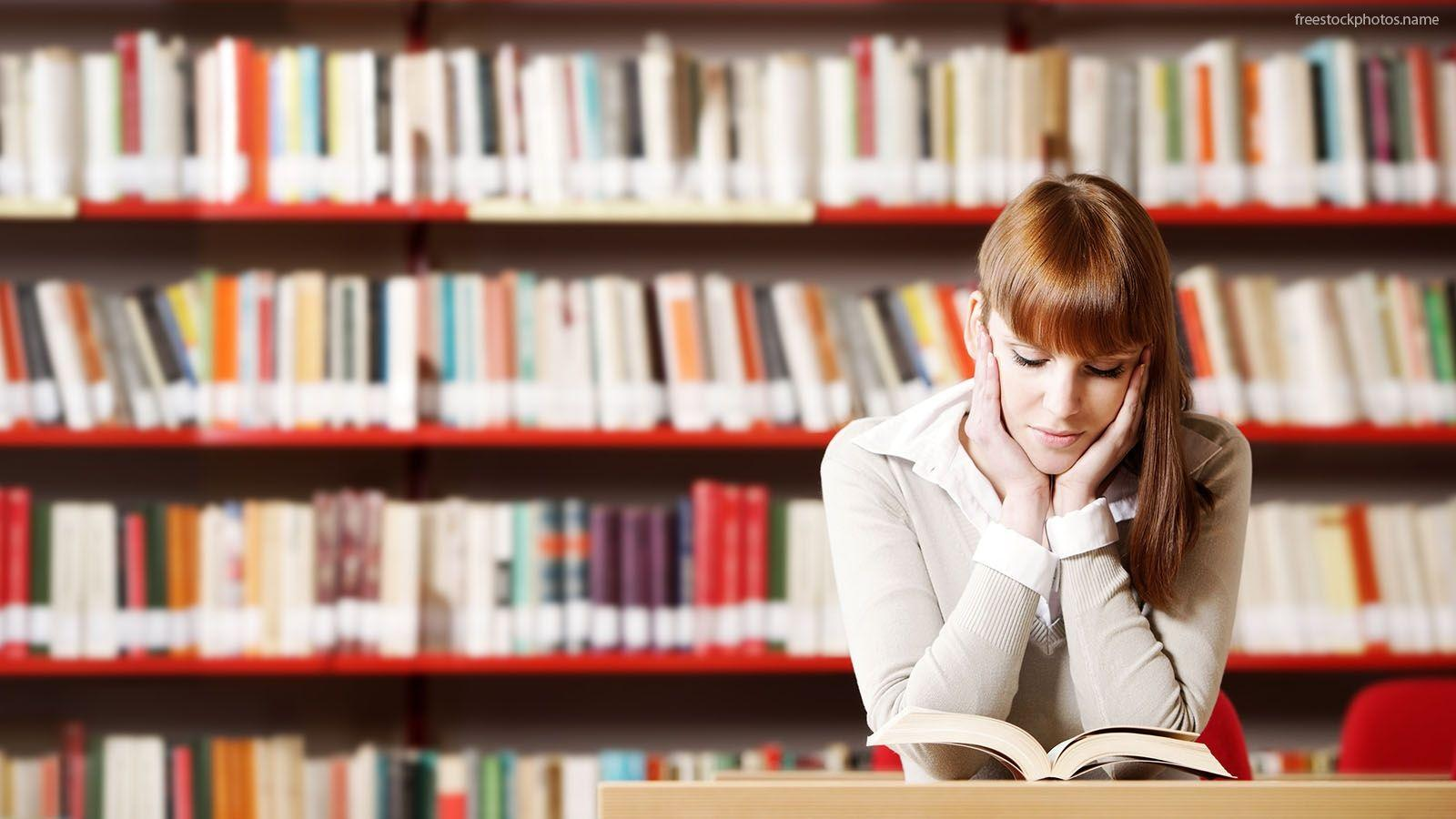 Download Stock Photos Of Student Studying In The Library Images