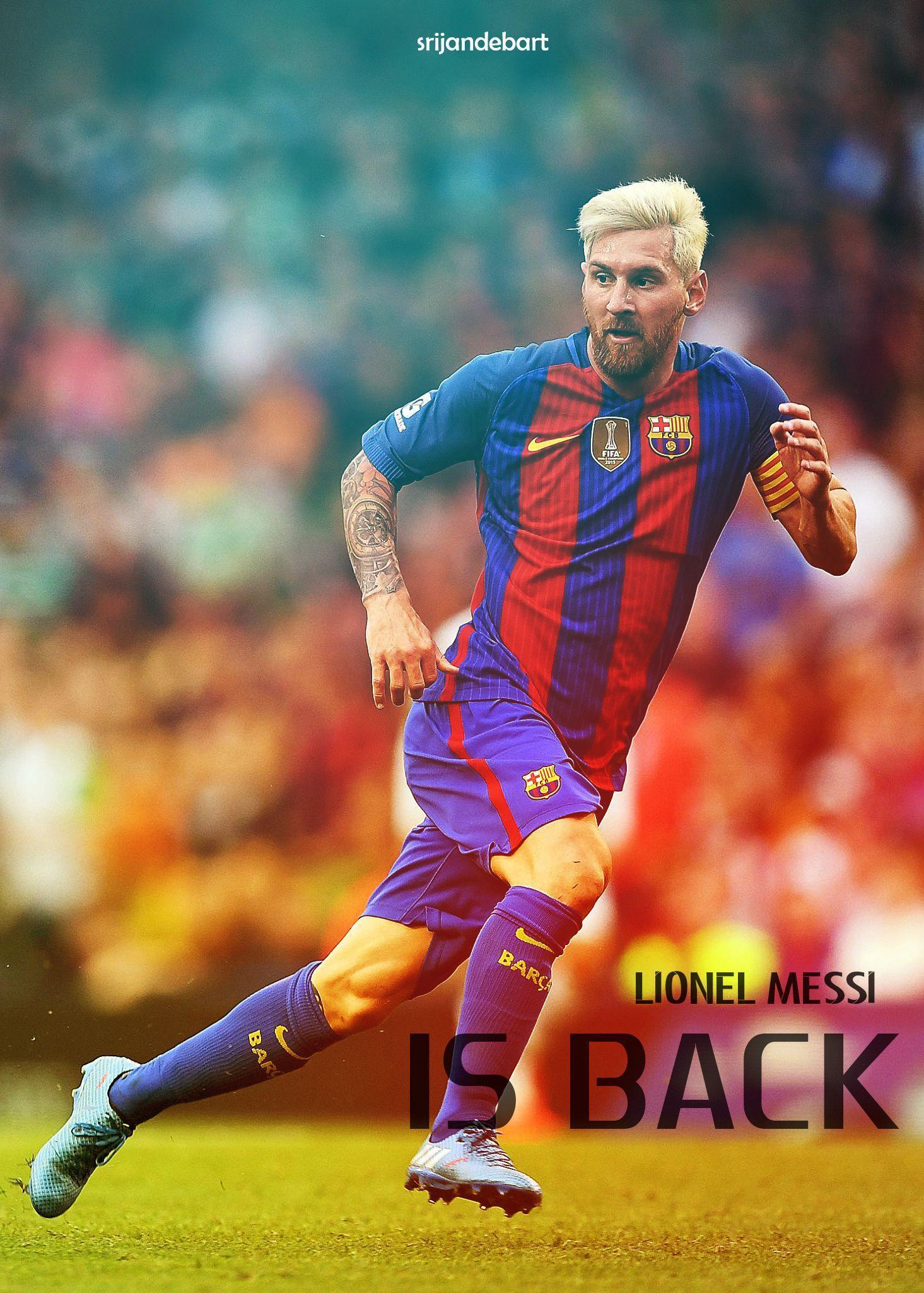 Leo Messi Blonde Mobile Wallpaper by srijandeb12 on DeviantArt