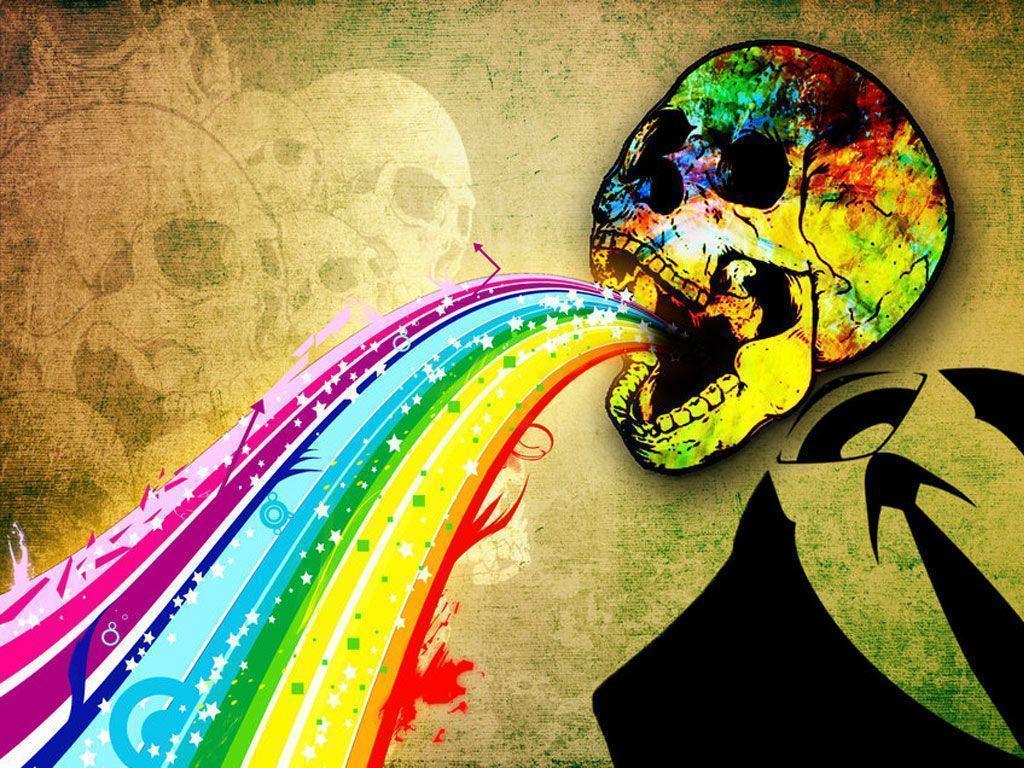 skull wallpaper 133 colorful - photo #14