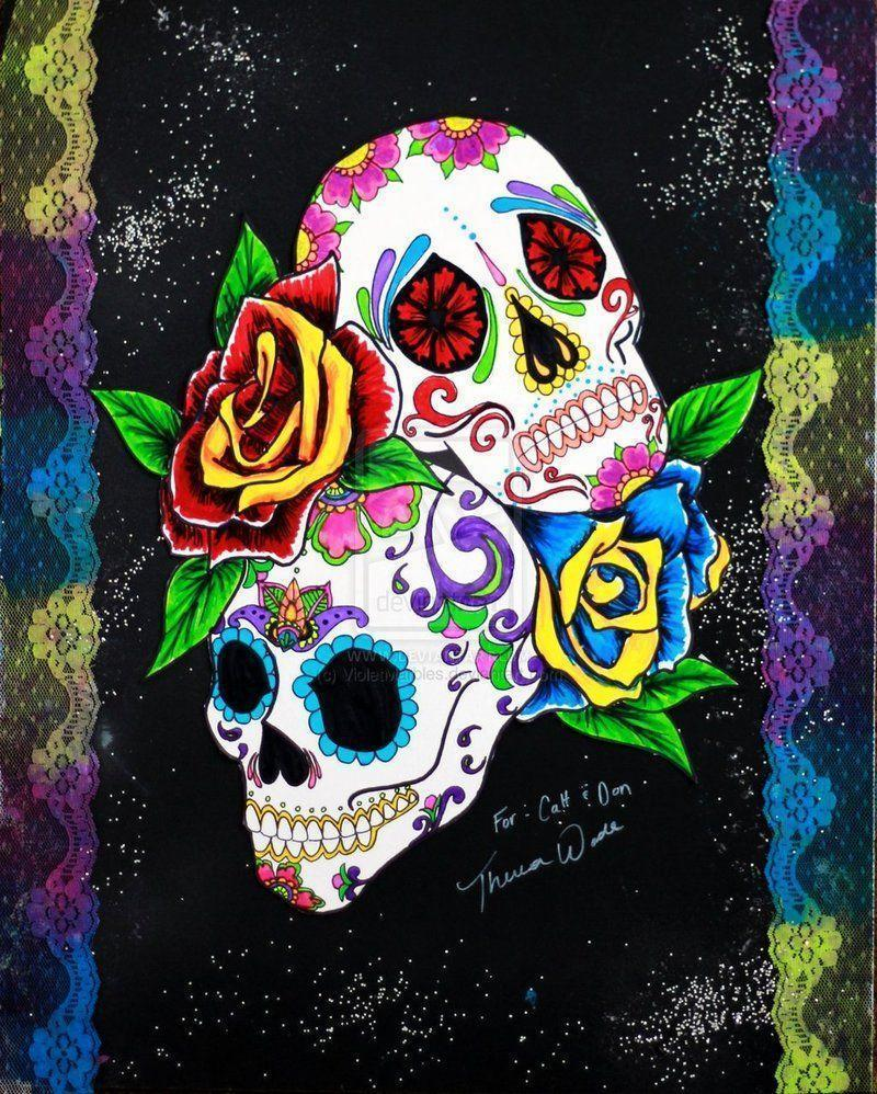 wallpaper additionally sugar skull - photo #6