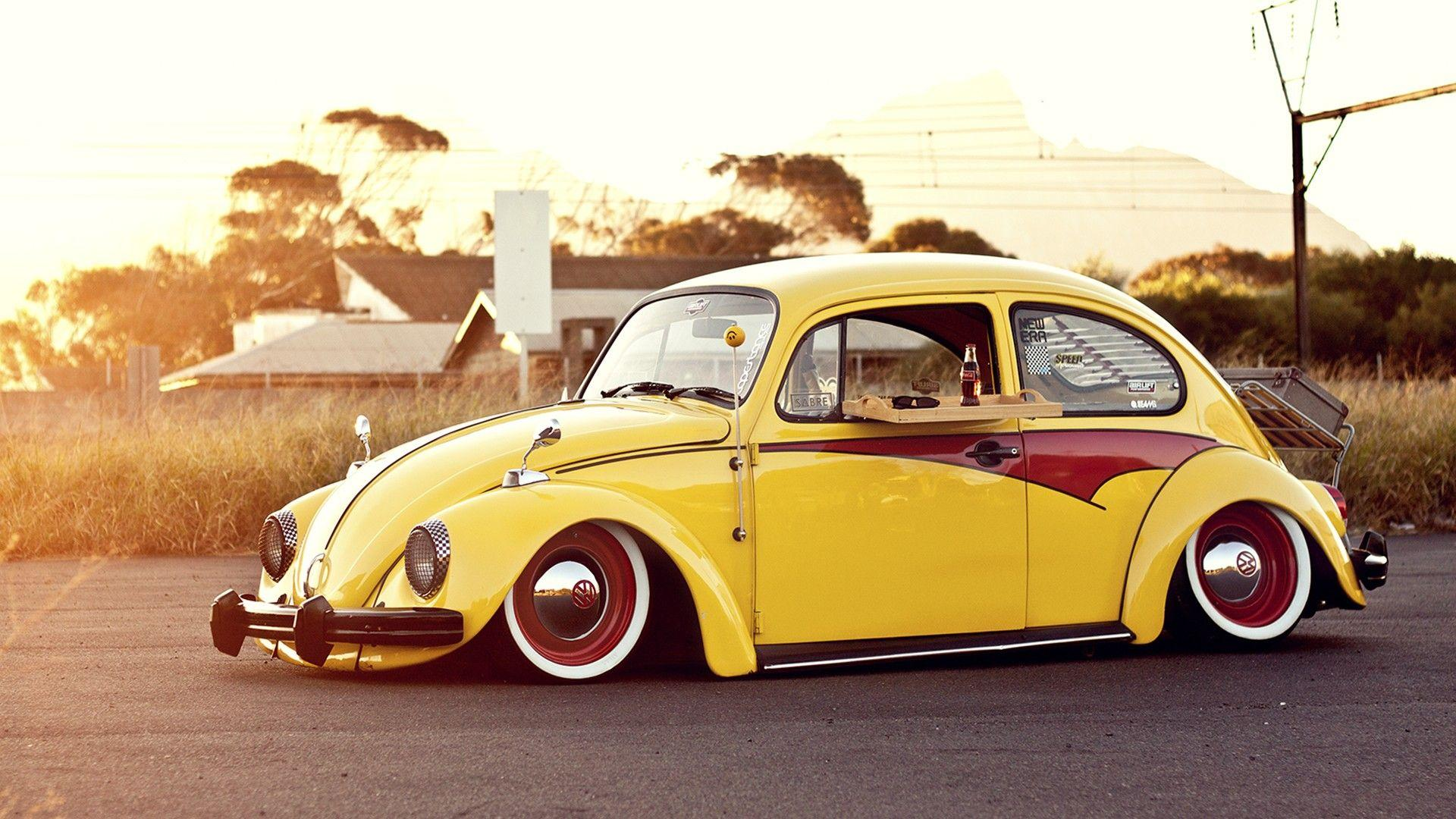 Classic Yellow VW Beetle Wallpapers Wallpapers Themes