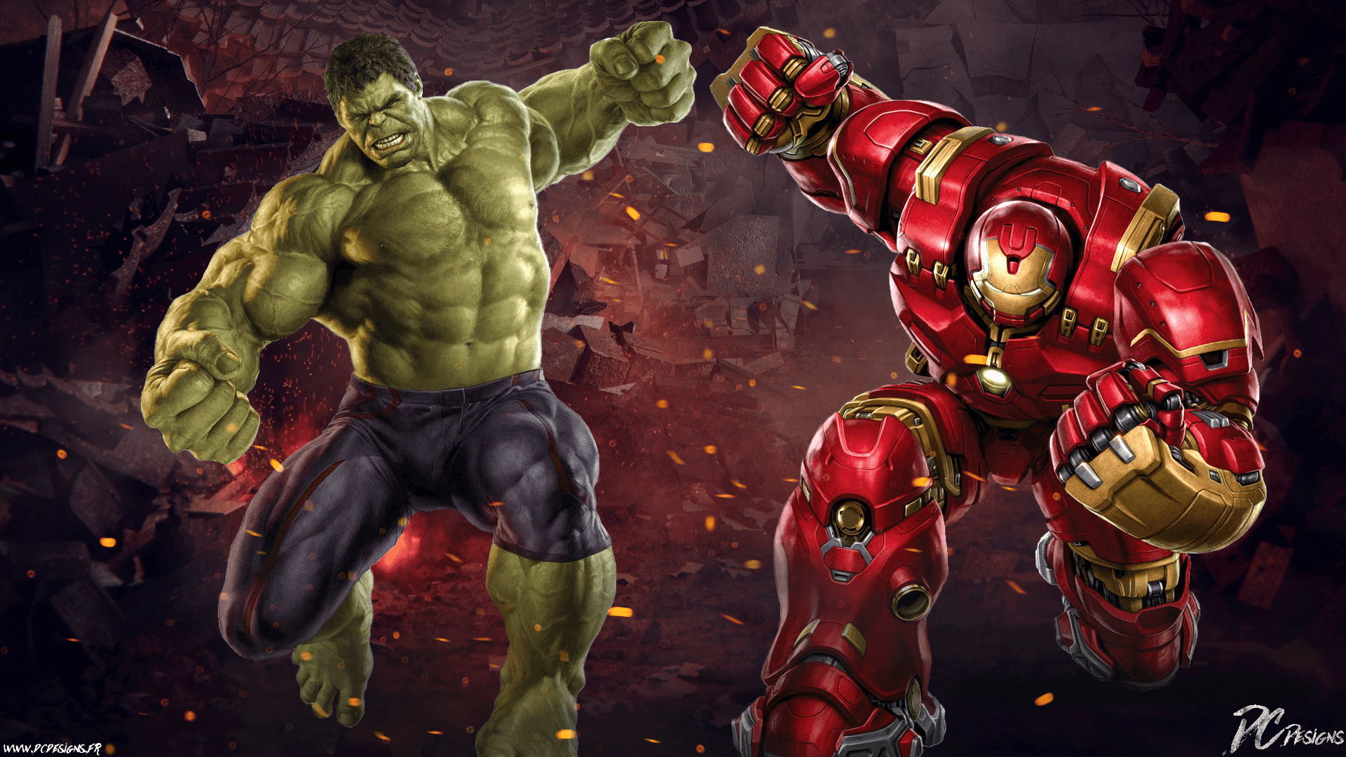 hulk vs hulkbuster wallpapers - wallpaper cave